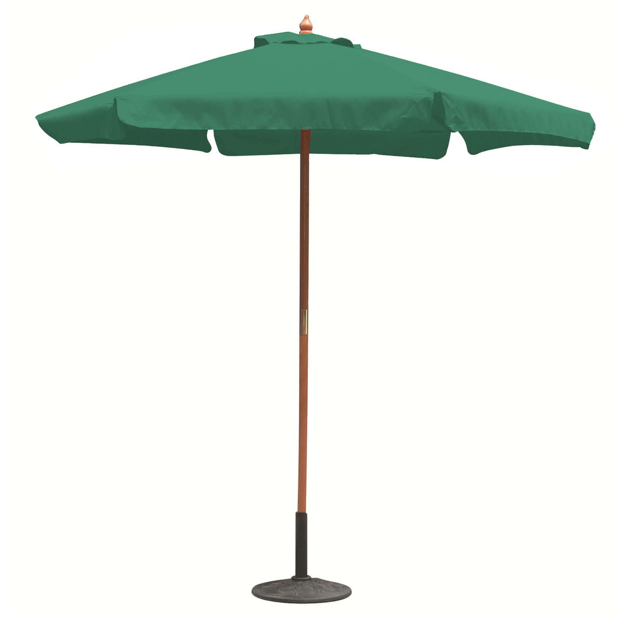 Milani Home DOMINUS - ombrellone da giardino ø 2,5 palo centrale in legno