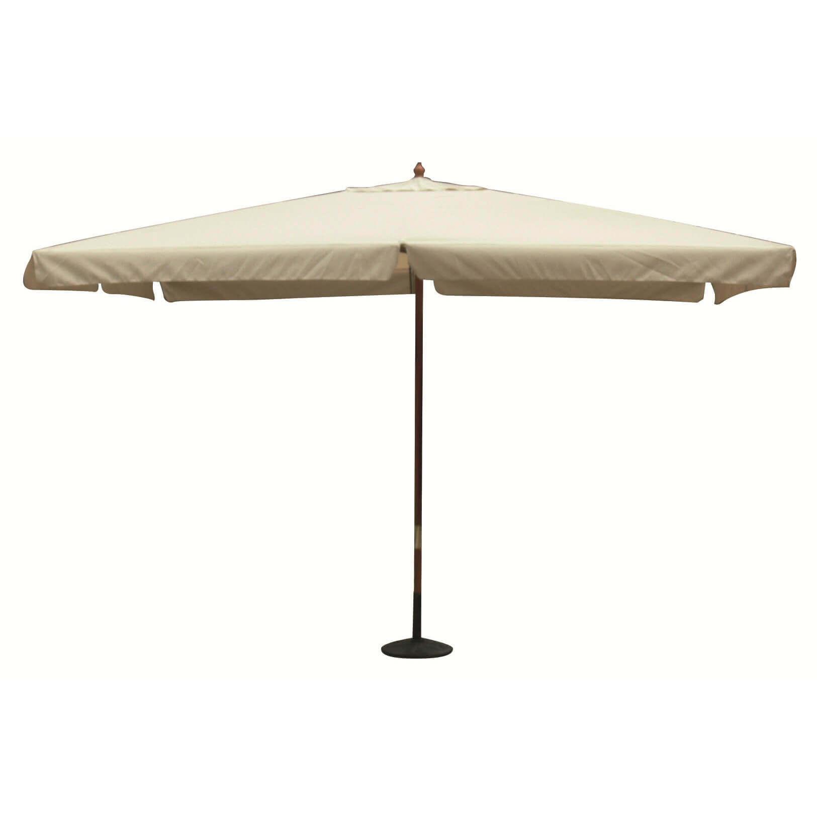 Milani Home DOMINUS - ombrellone da giardino 3 x 3 palo centrale in legno