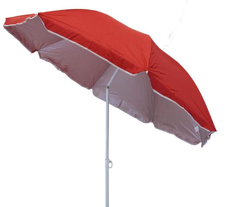 Milani Home ombrellone da spiaggia in nylon protezione uv ø 1,8 m