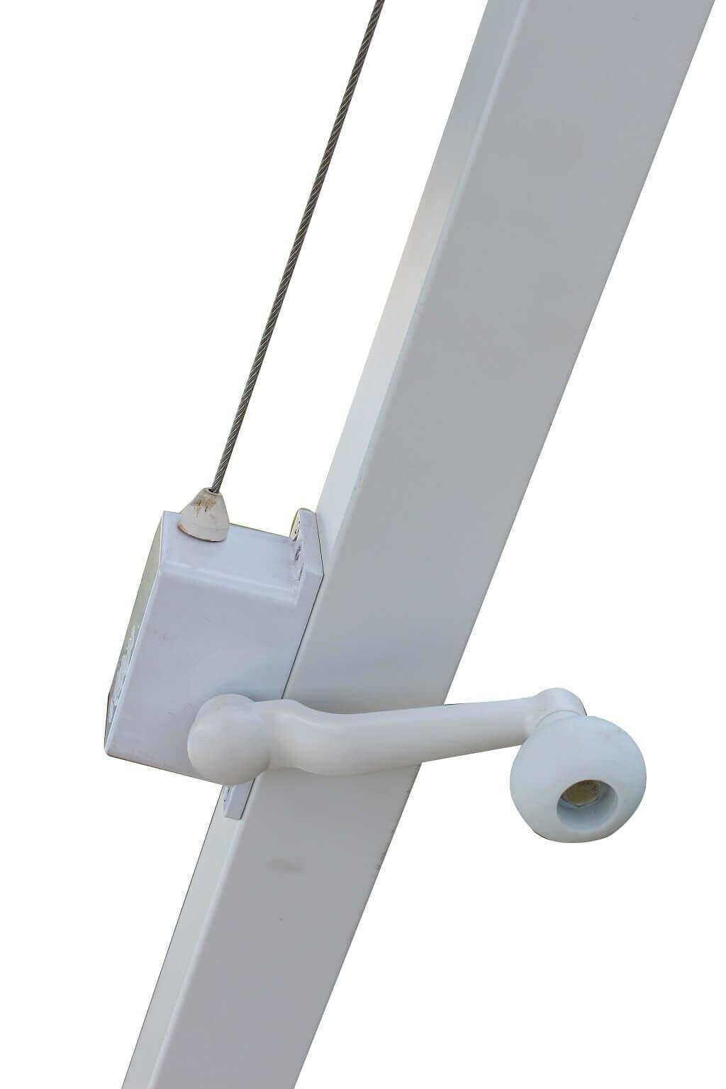 Milani Home THEMA - ombrellone da giardino 3 x 4 decentrato in alluminio