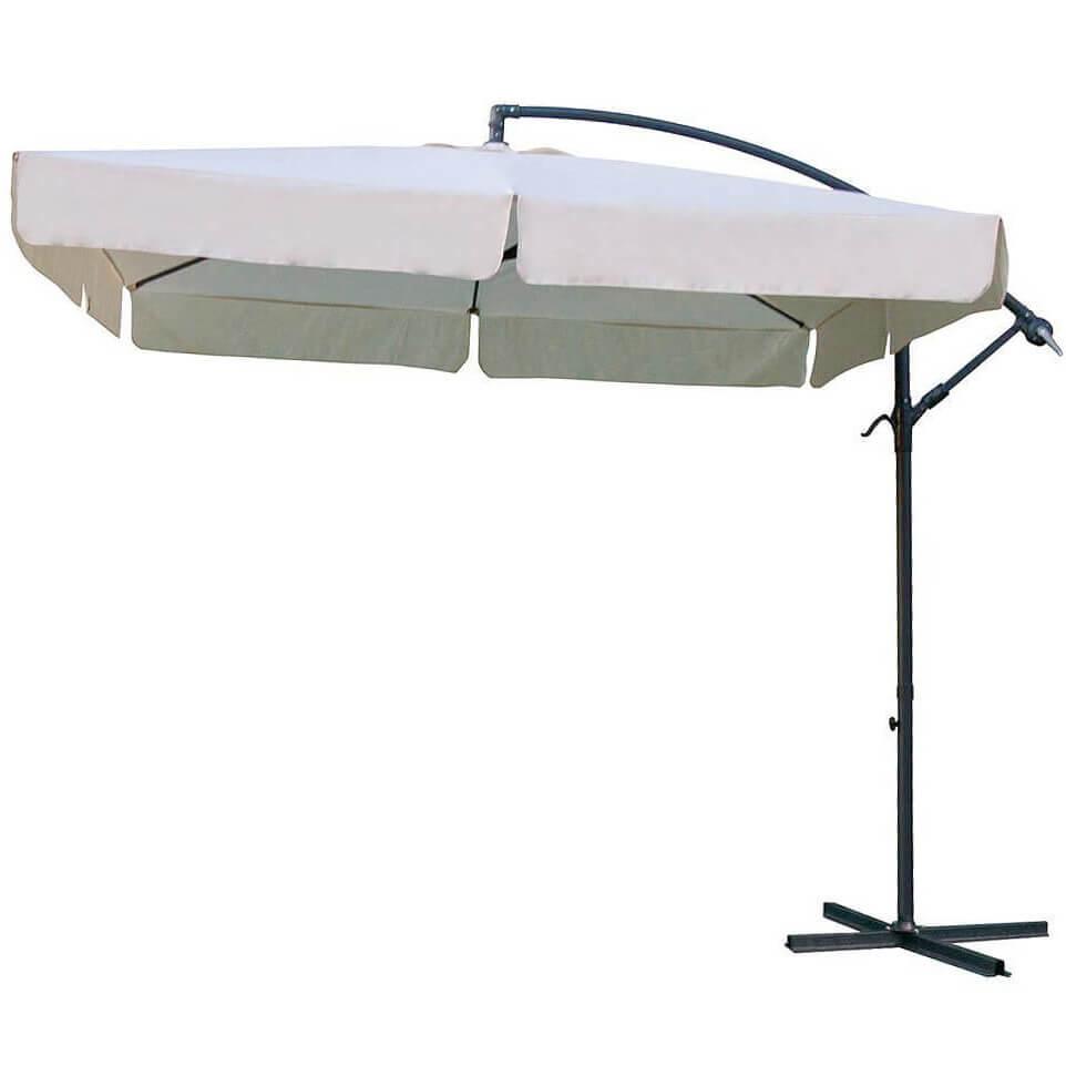 Milani Home ACHILLES - ombrellone da giardino 2,5 x 2,5 decentrato