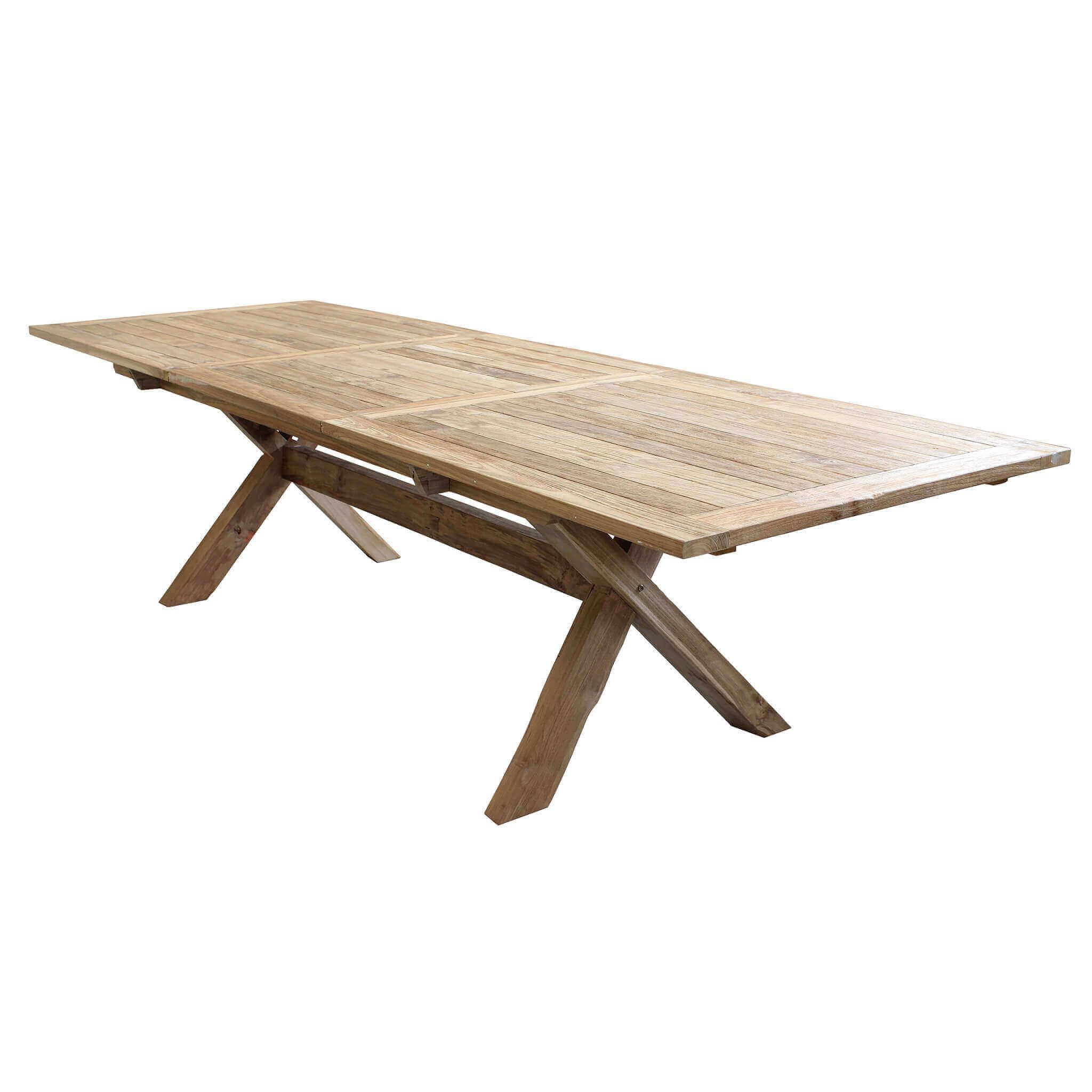 Milani Home XENIA - tavolo da giardino allungabile in teak 220/300 x 100