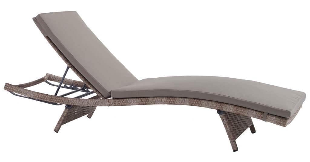 Milani Home ELLIPSIS - lettino prendisole completo di cuscino intreccio in rattan sintetico