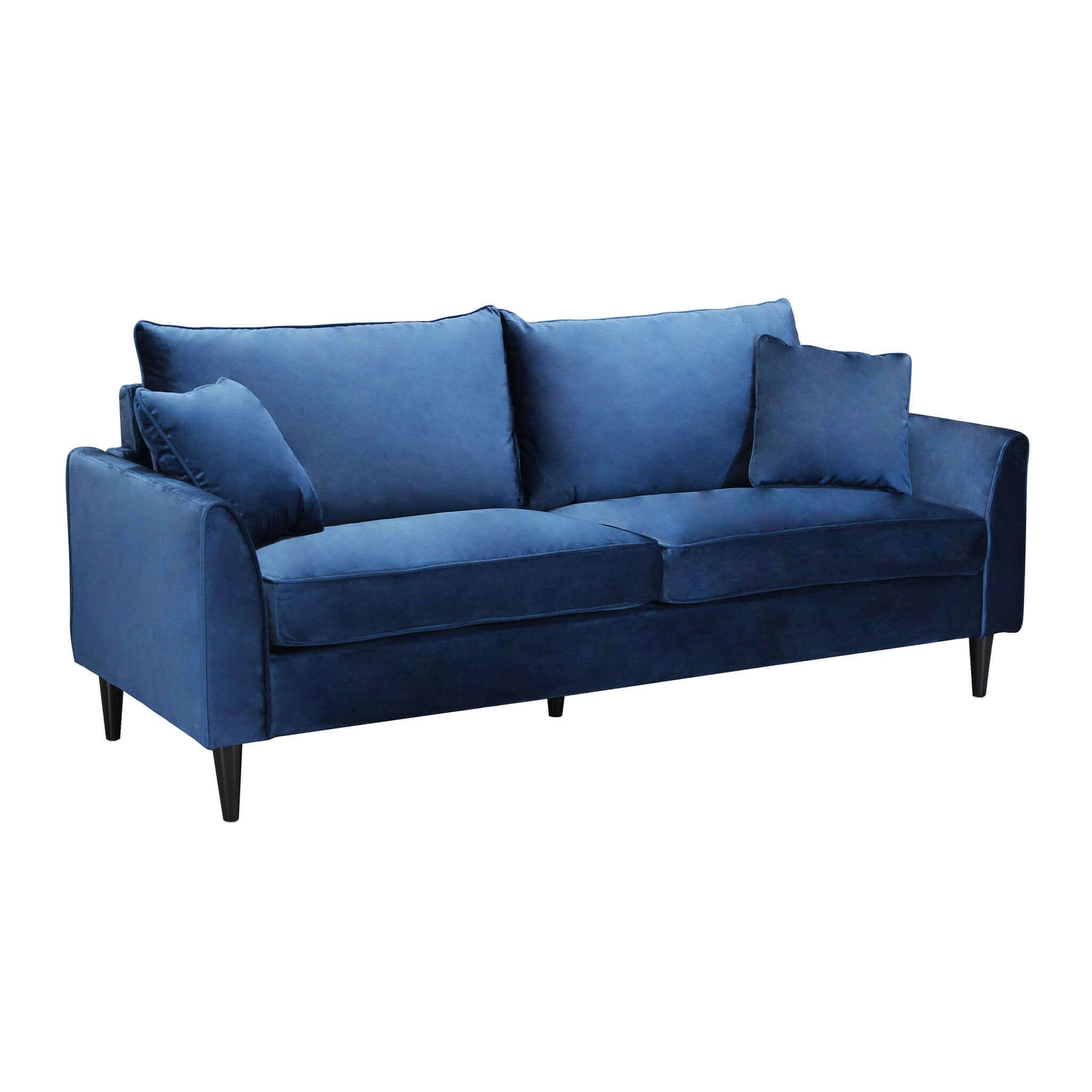 Milani Home VELVET - divano in velluto tre posti