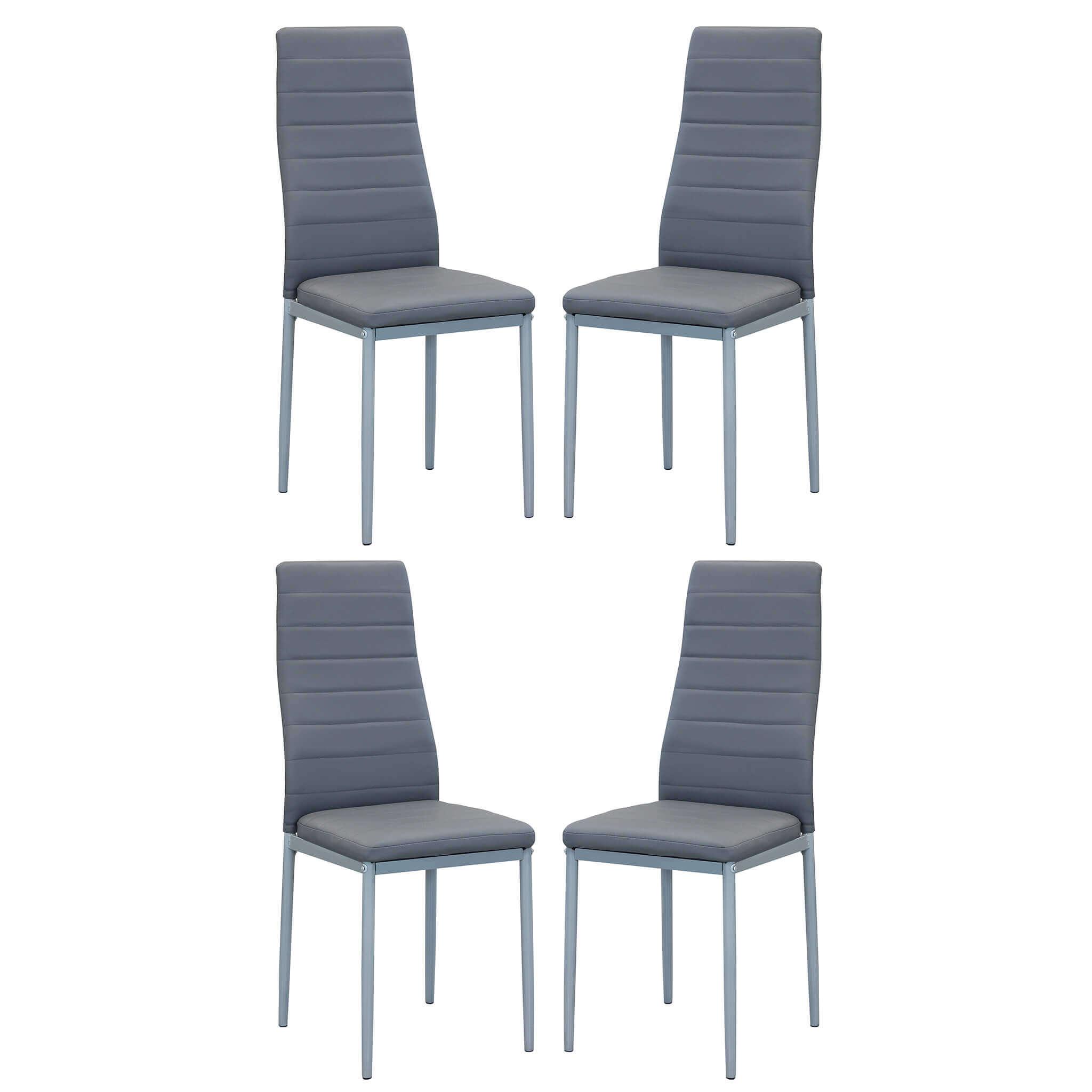 Milani Home FRITZ - set di 4 sedie in ecopelle