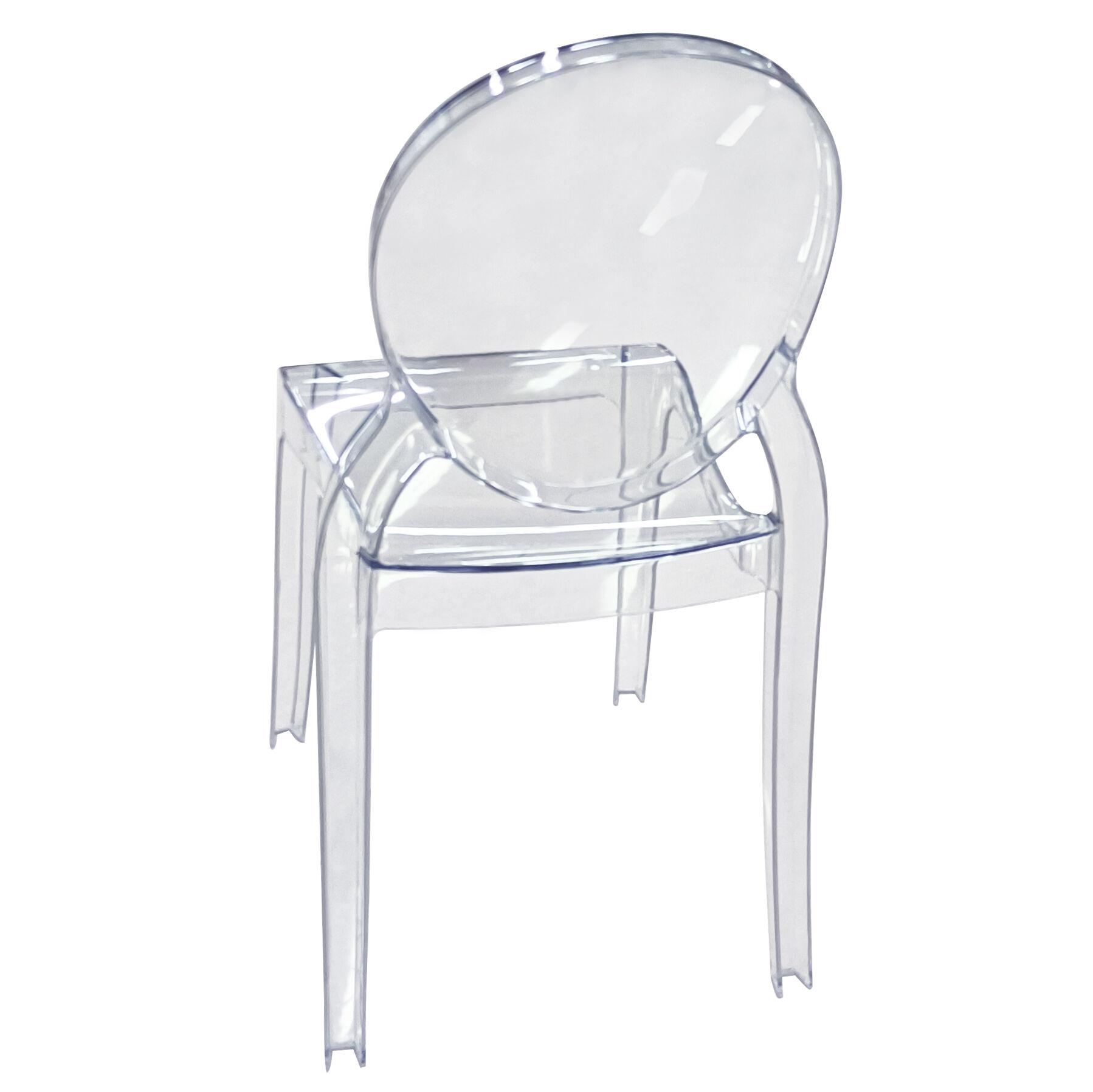 Milani Home MÉLODIE - sedia moderna in policarbonato trasparente