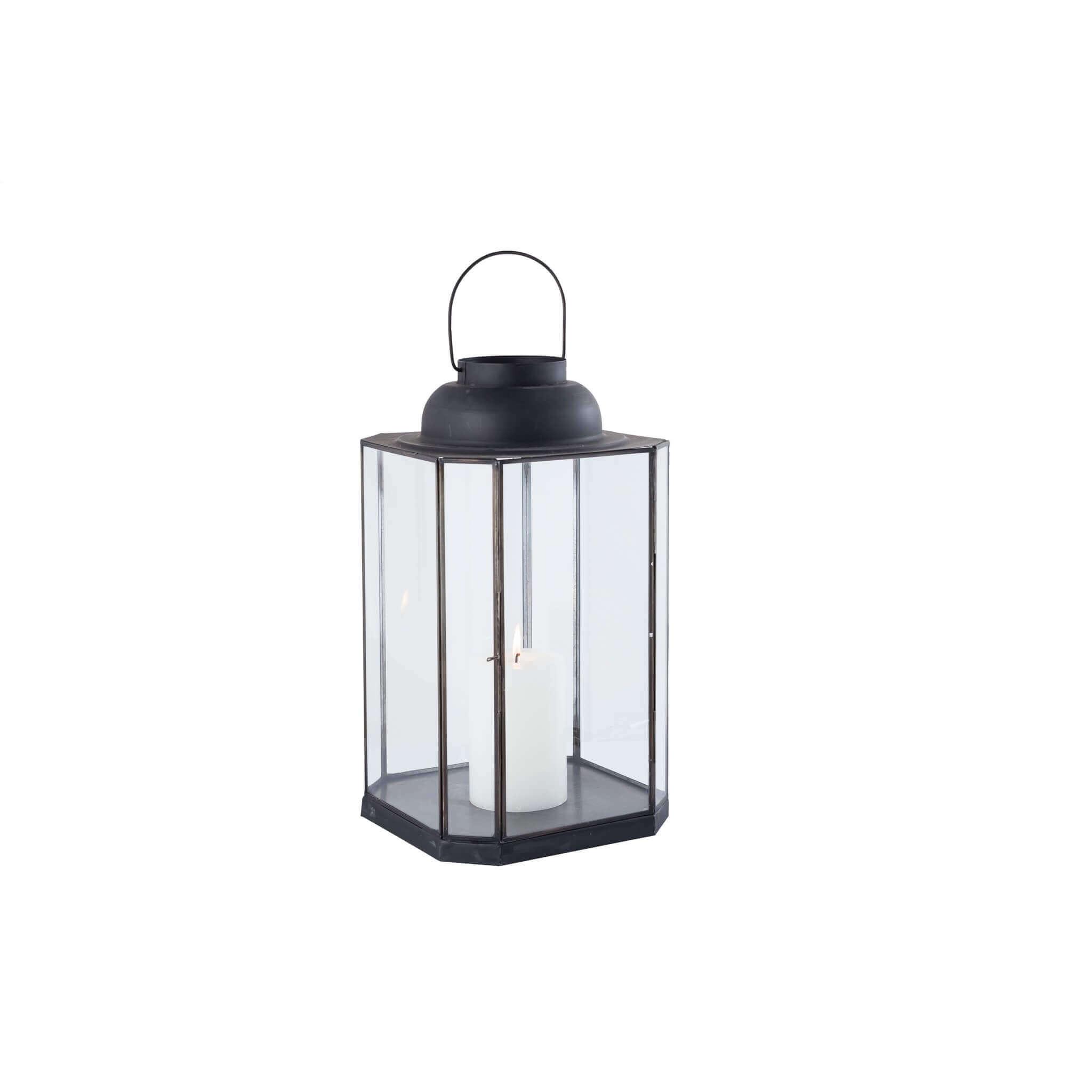 Milani Home APOLLINE - lanterna in vetro e metallo