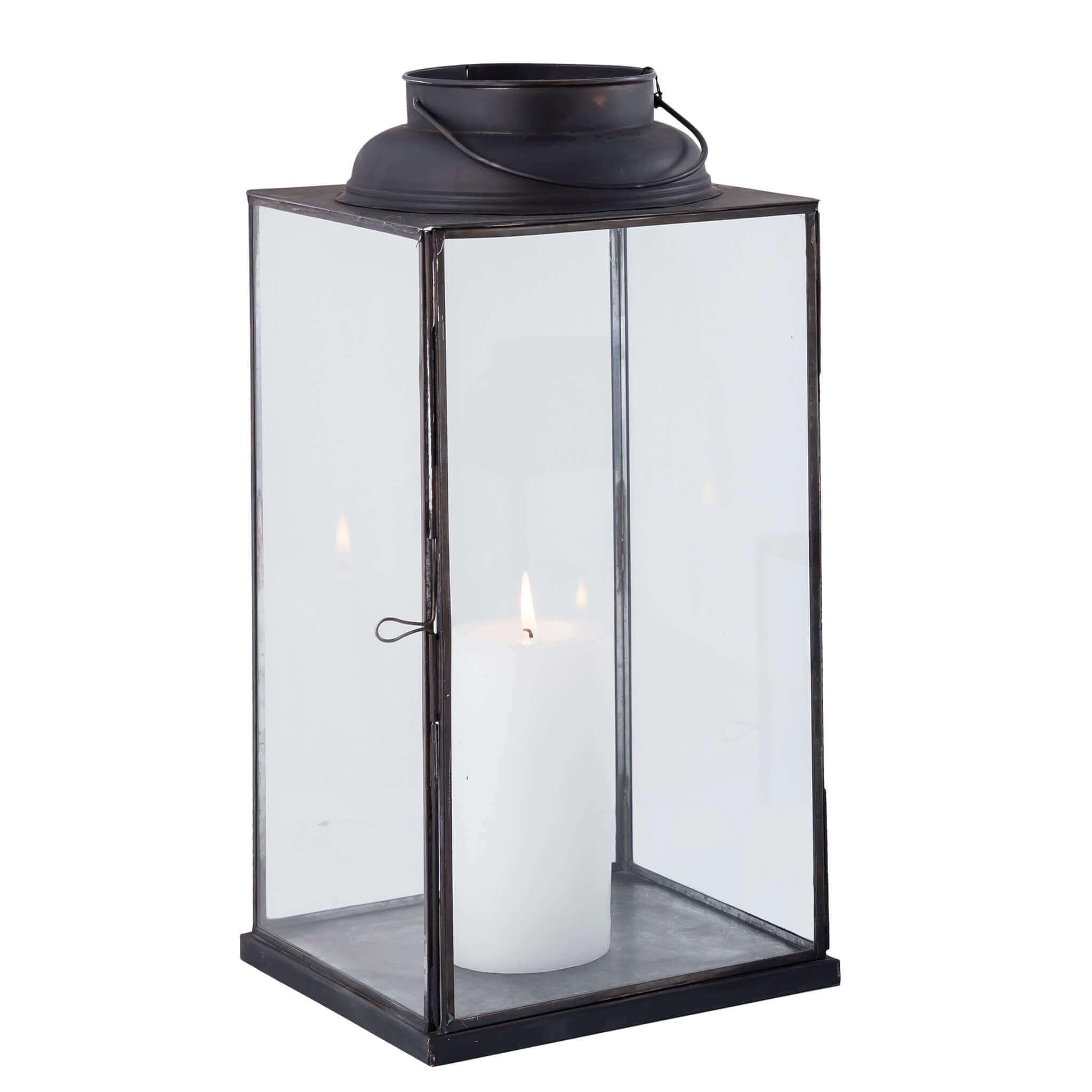 Milani Home CAROLINE - lanterna in vetro e metallo