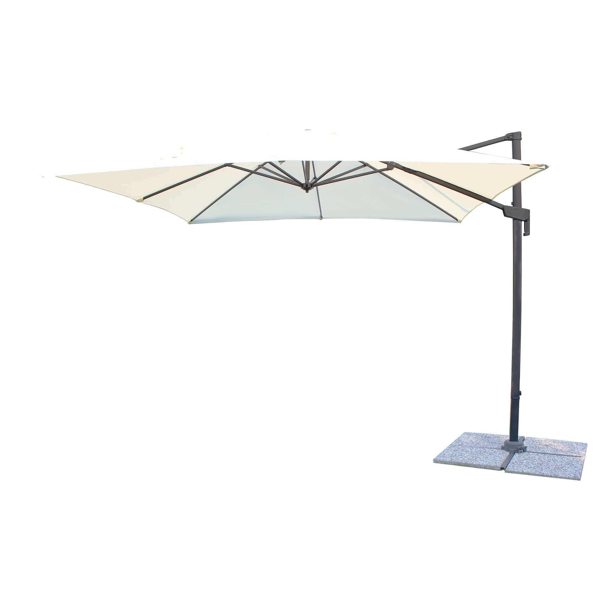 milani home volta - ombrellone da giardino decentrato 3x3