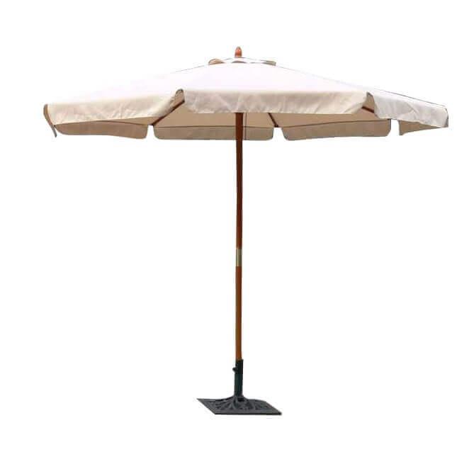 Milani Home VICTOR - ombrellone da giardino ø 3 palo centrale in legno