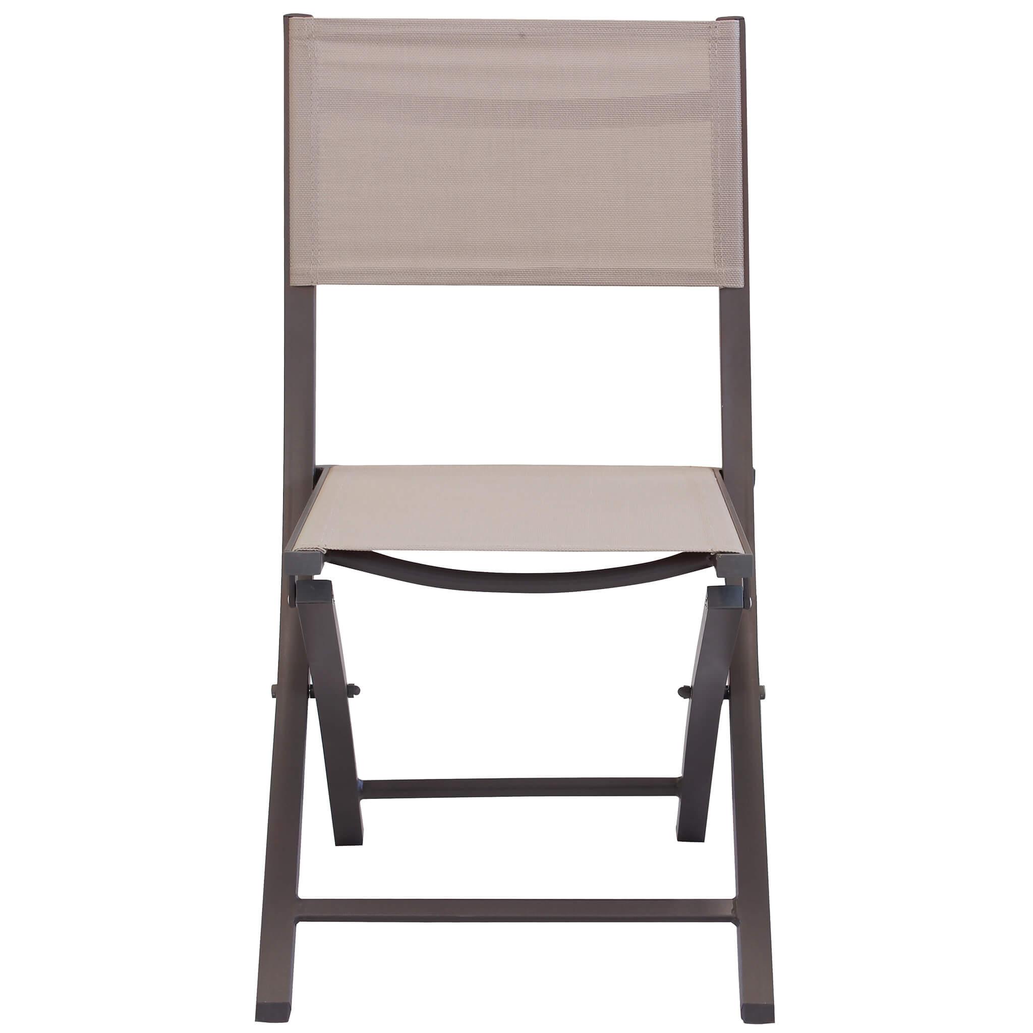 Milani Home GAJA - sedia da giardino in alluminio e textilene pieghevole salvaspazio