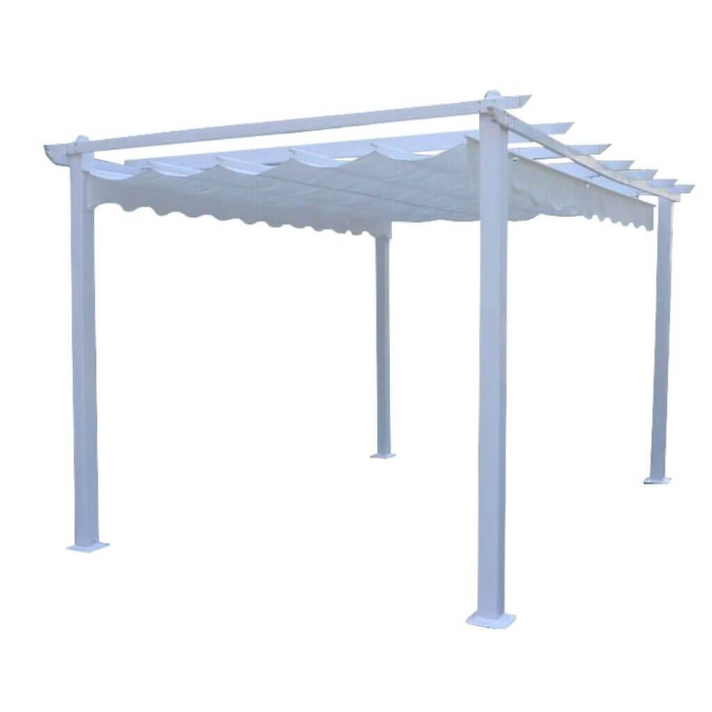 Milani Home ARON - gazebo da giardino 3 x 4 in alluminio
