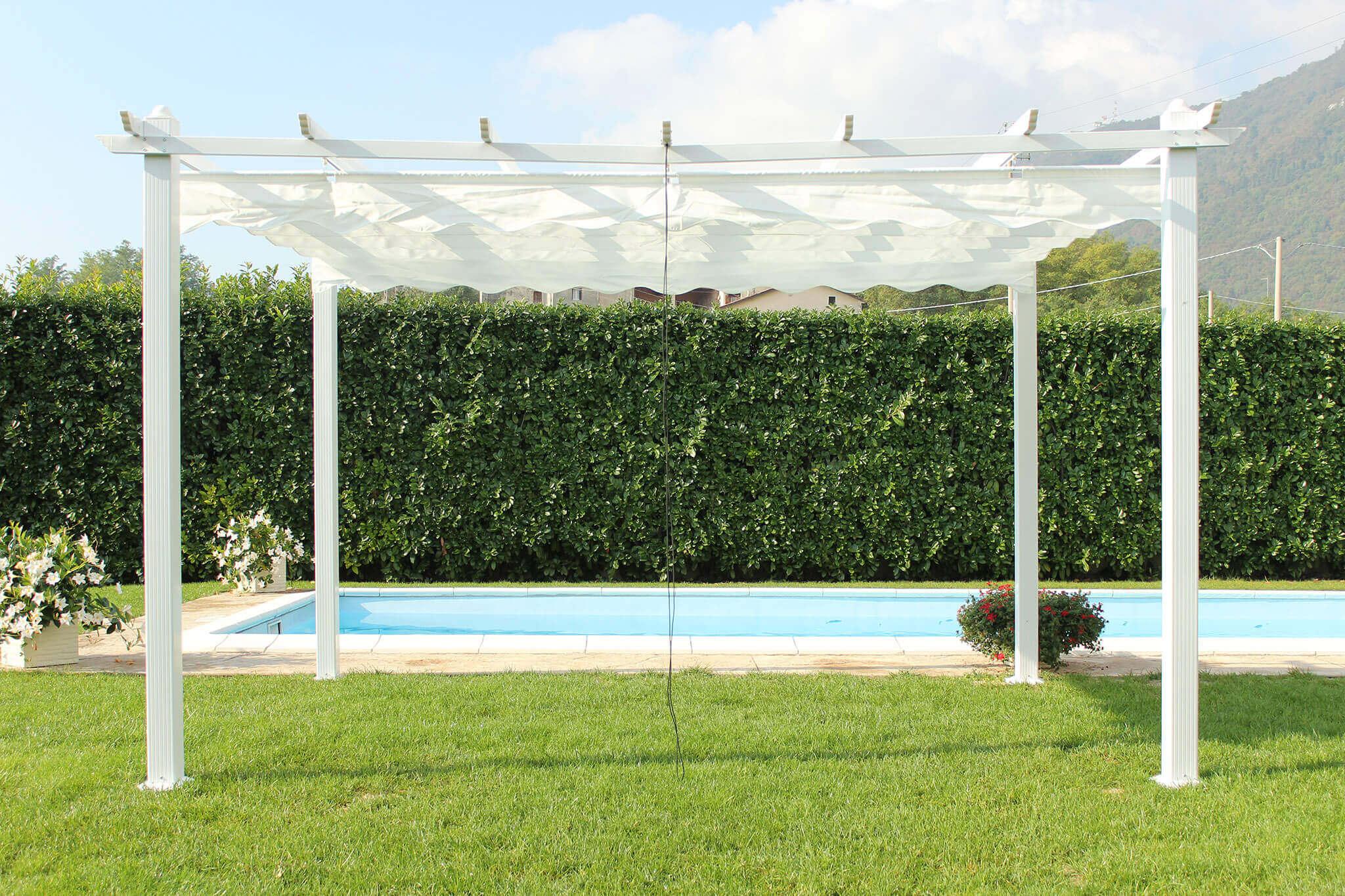 Milani Home ARON - gazebo da giardino 3 x 3 in alluminio