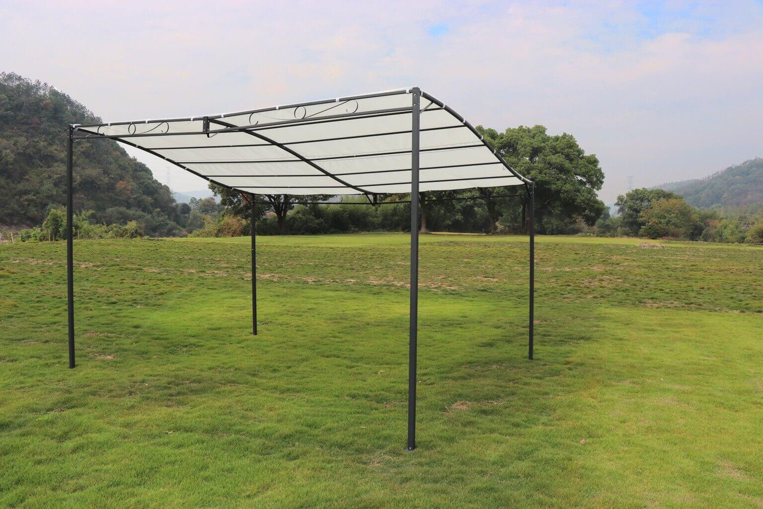 Milani Home PEGASUS - pergola  da giardino autoportante 3 x 4 in metallo