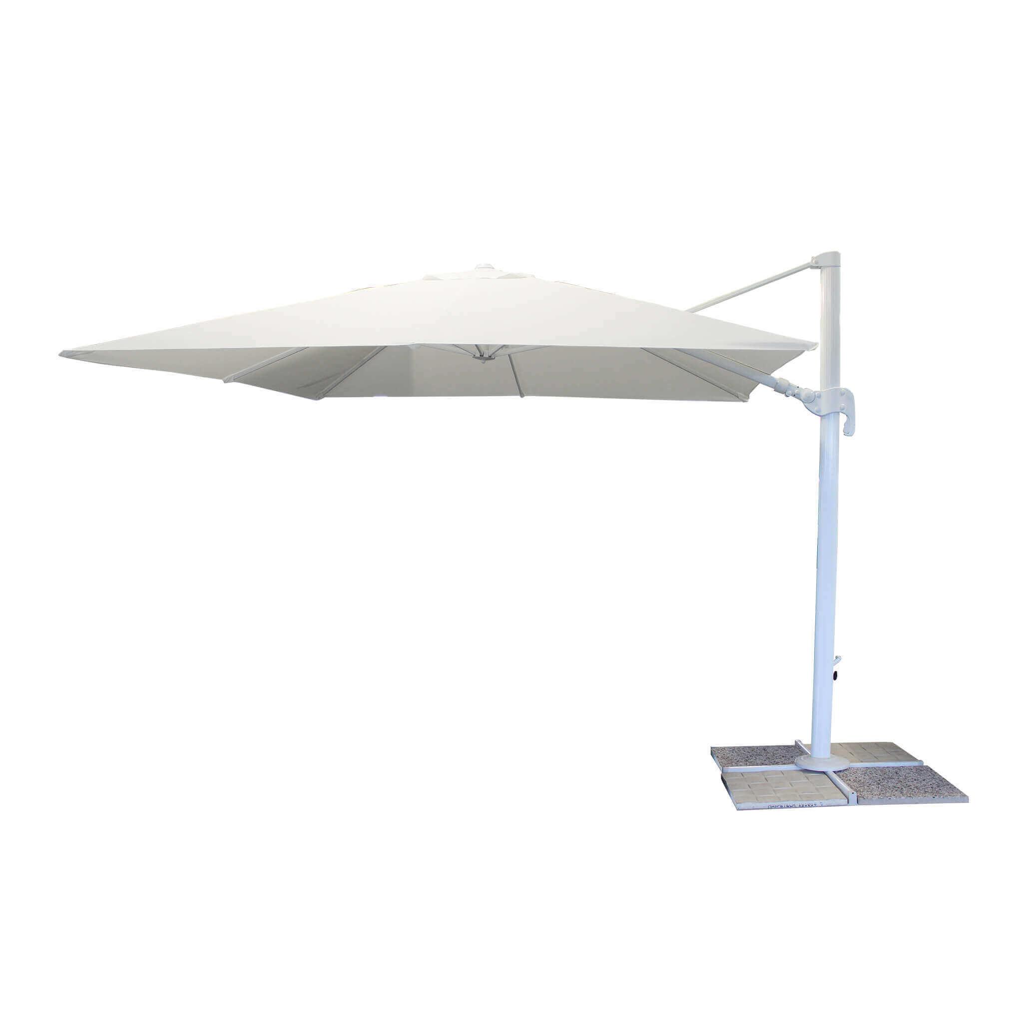 Milani Home SAGITTARIUS - ombrellone da giardino 3 x 3 decentrato