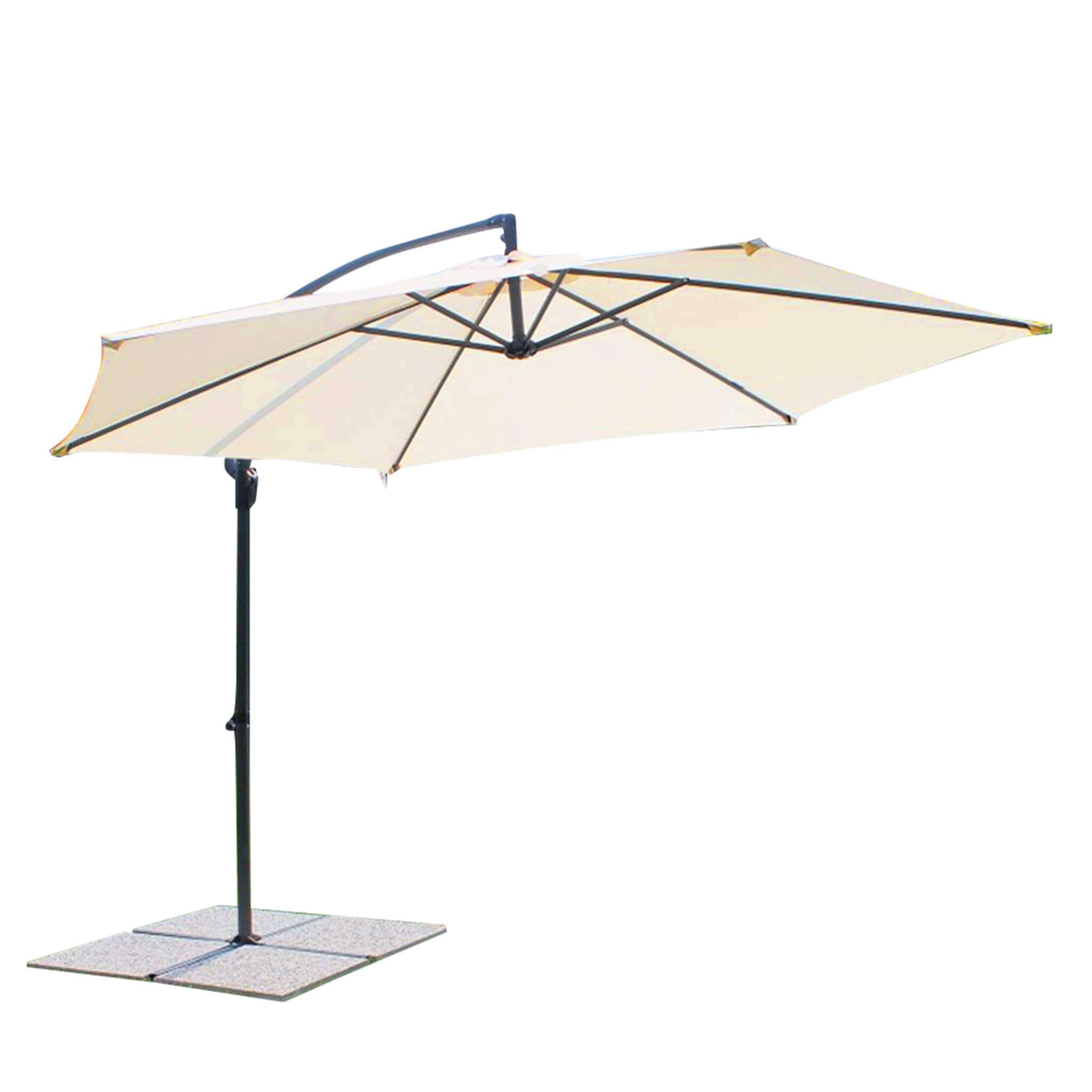 Milani Home DELPHINUS - ombrellone da giardino ø 3 decentrato