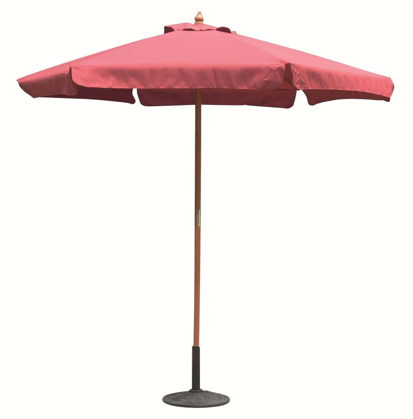 Milani Home DOMINUS - ombrellone da giardino 3 x 4 palo centrale in legno