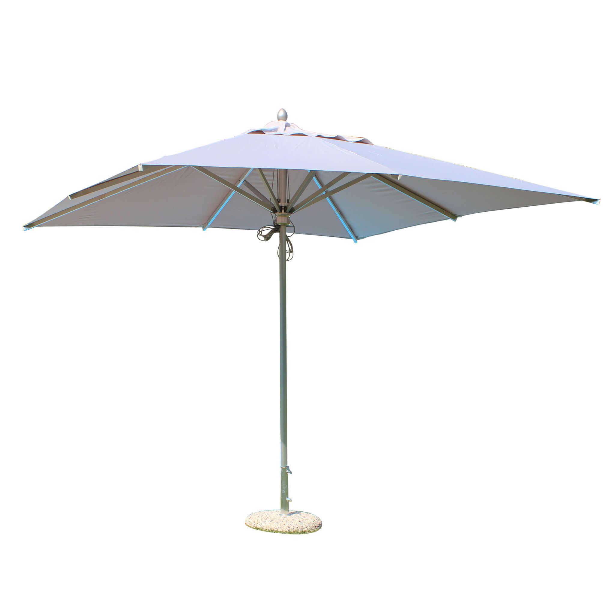 Milani Home ABACUS - ombrellone da giardino 3 x 3 palo centrale in alluminio