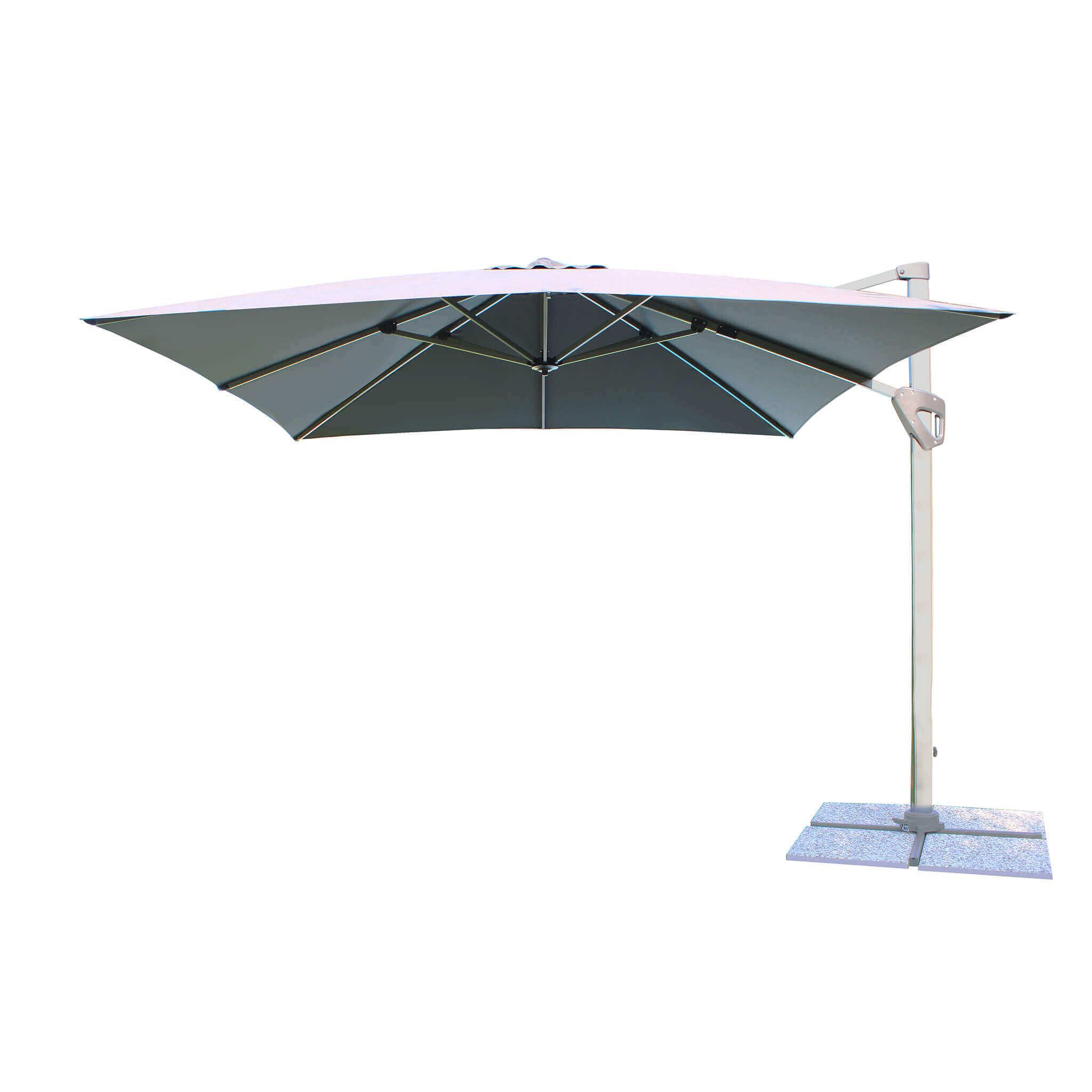 Milani Home MANU - ombrellone da giardino 3 x 3 decentrato