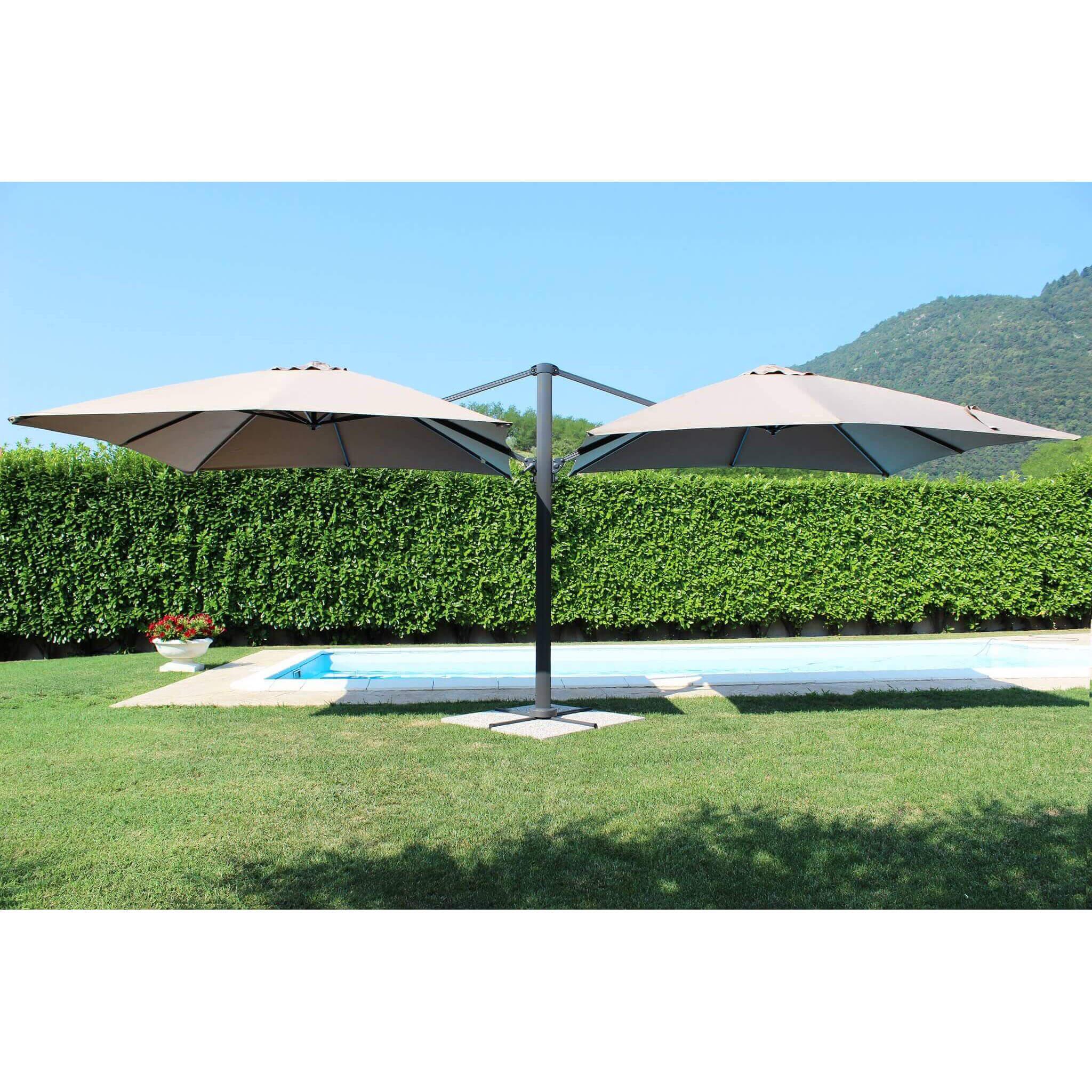 Milani Home DA VINCI - ombrellone doppio da giardino 3 X 3