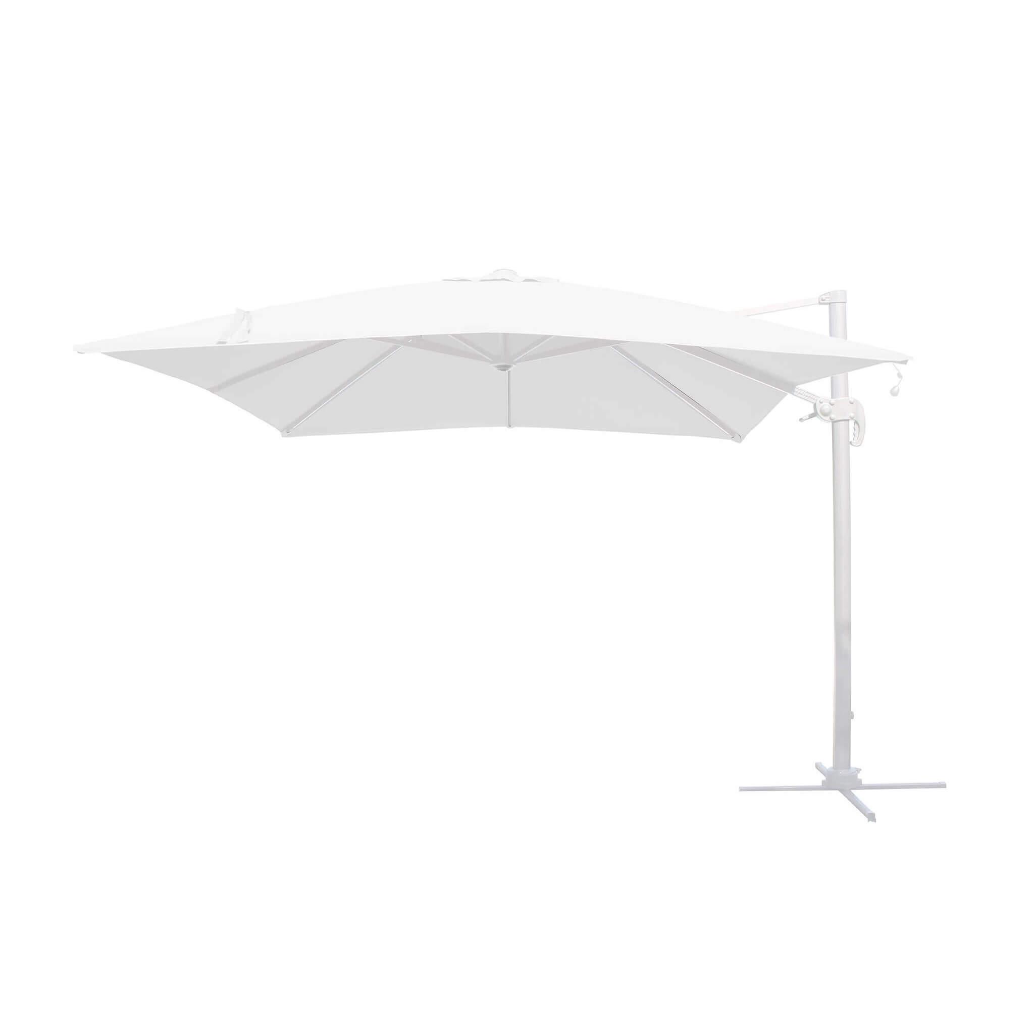 Milani Home TESLA - ombrellone da giardino decentrato con led 3 X 3