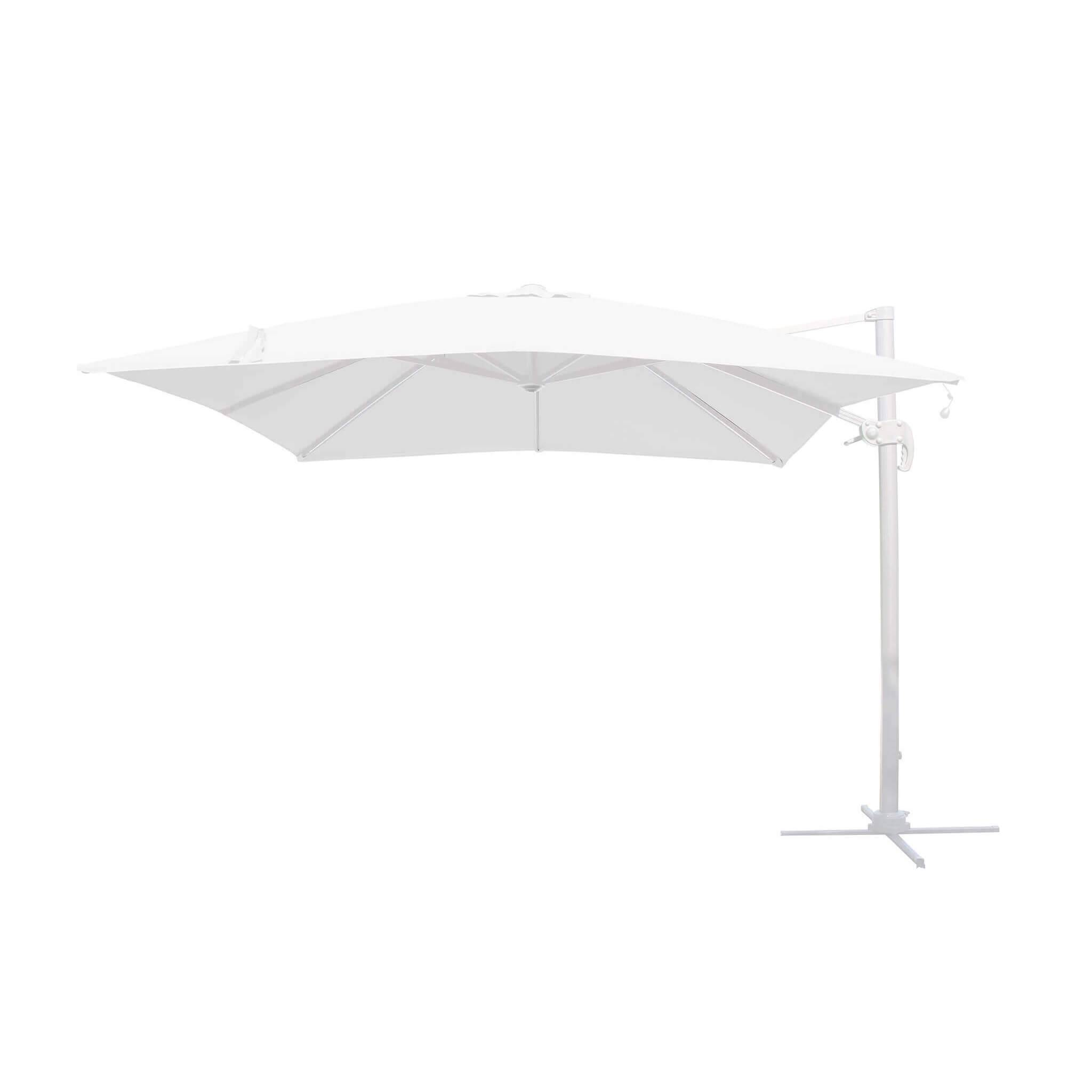 Milani Home TESLA - ombrellone da giardino decentrato con led 3 X 4