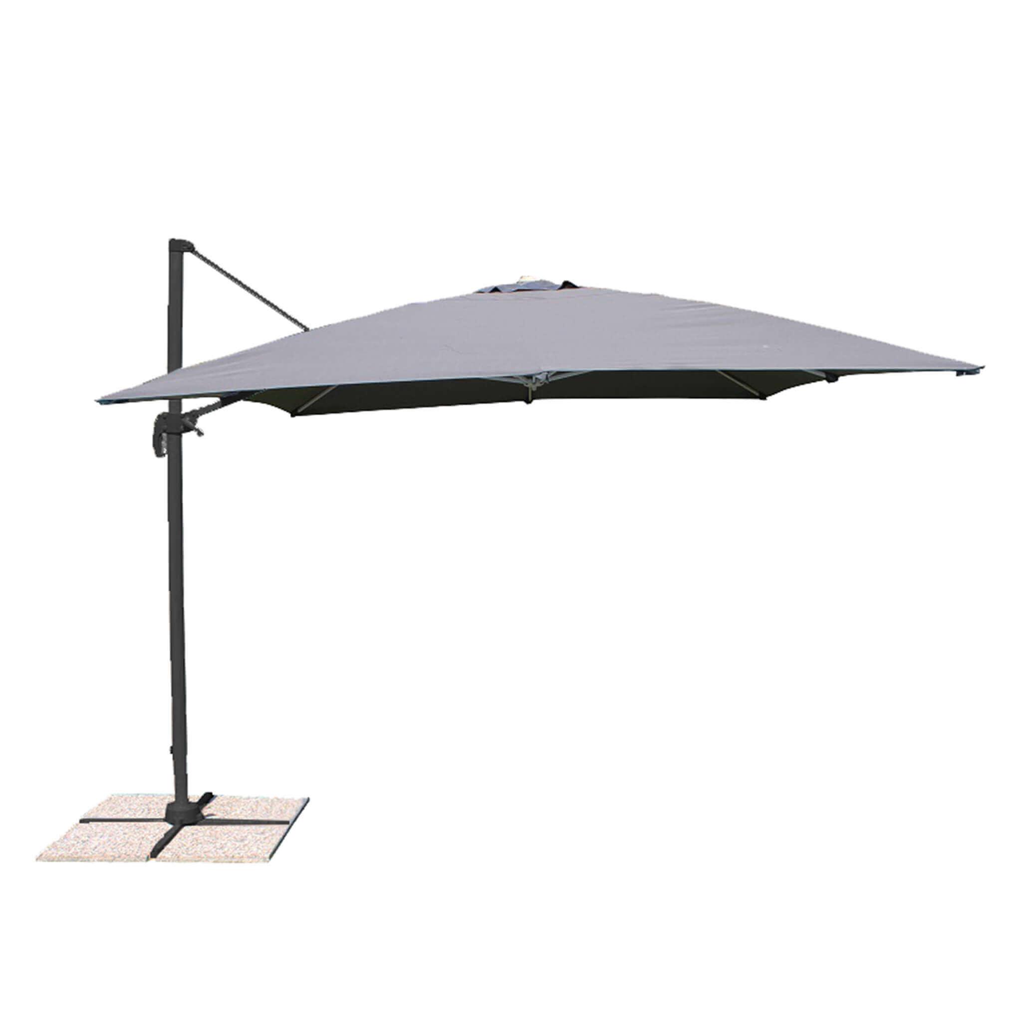 Milani Home MERIDIES - ombrellone da giardino 3 x 4 decentrato