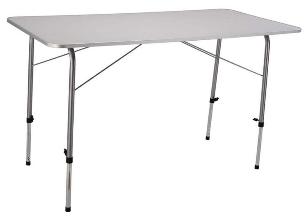 milani home professional - tavolo da campeggio pieghevole salvaspazio 120x60