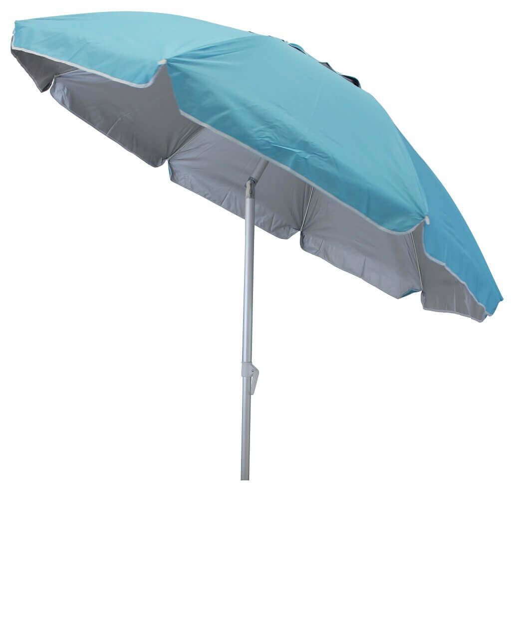 Milani Home ombrellone da spiaggia in alluminio tondo 2 m