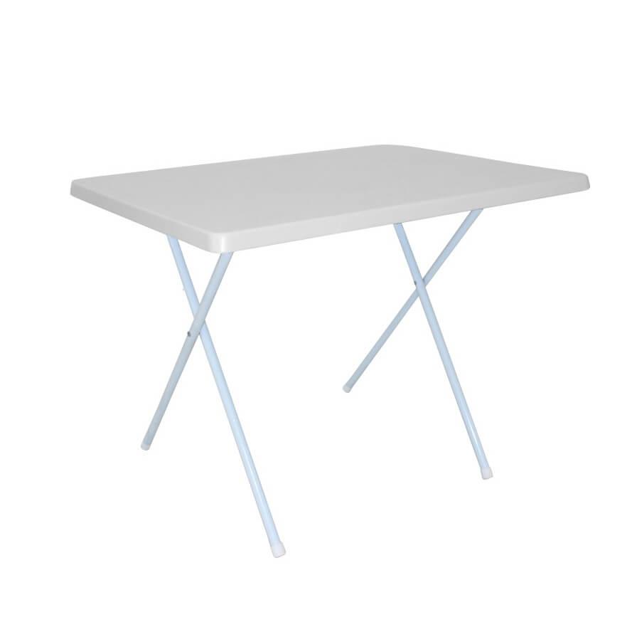 Milani Home tavolino da campeggio pieghevole salvaspazio in pvc