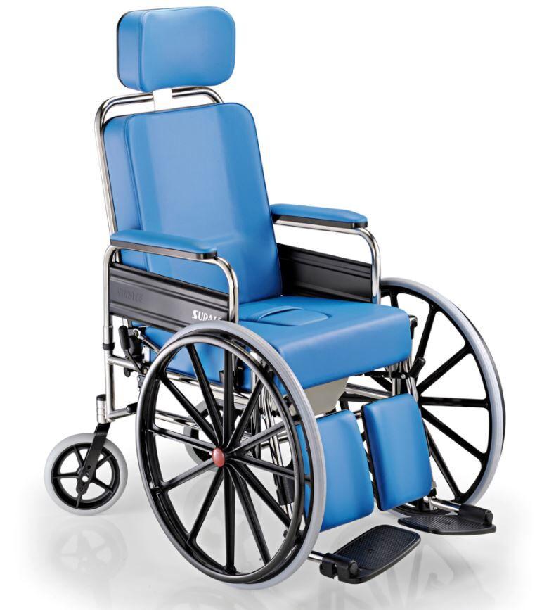 surace sedia per disabili 777 grazia con wc e ruote anteriori grandi