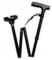 rekordsan bastone da passeggio pieghevole, in alluminio ® con puntale e altezza regolabile