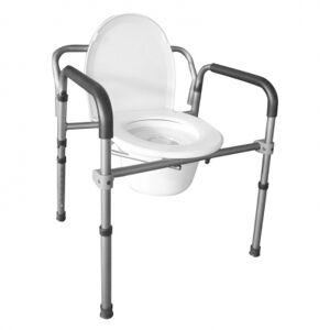 Intermed Sedia comoda pieghevole in alluminio 4 in 1