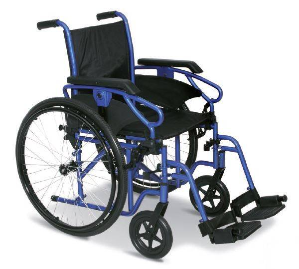 wimed sedia a rotelle pieghevole slim millenium iii  con seduta larga 43 cm