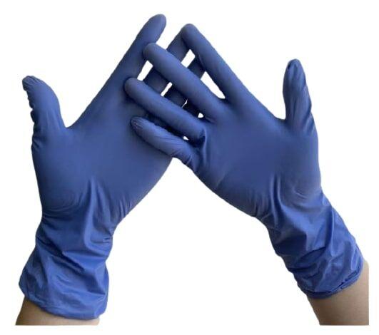 TTMed Guanti monouso in vinile non sterili, non talcati, colore blu CF da 100 pz