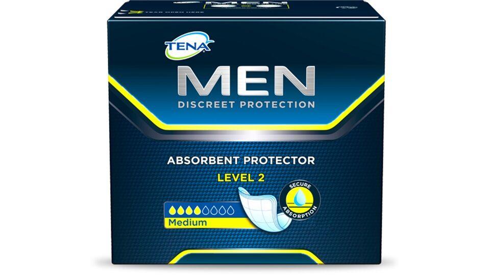 Tena Assorbenti maschili MEN Protezione MEDIUM Livello 2 cf 20 pz