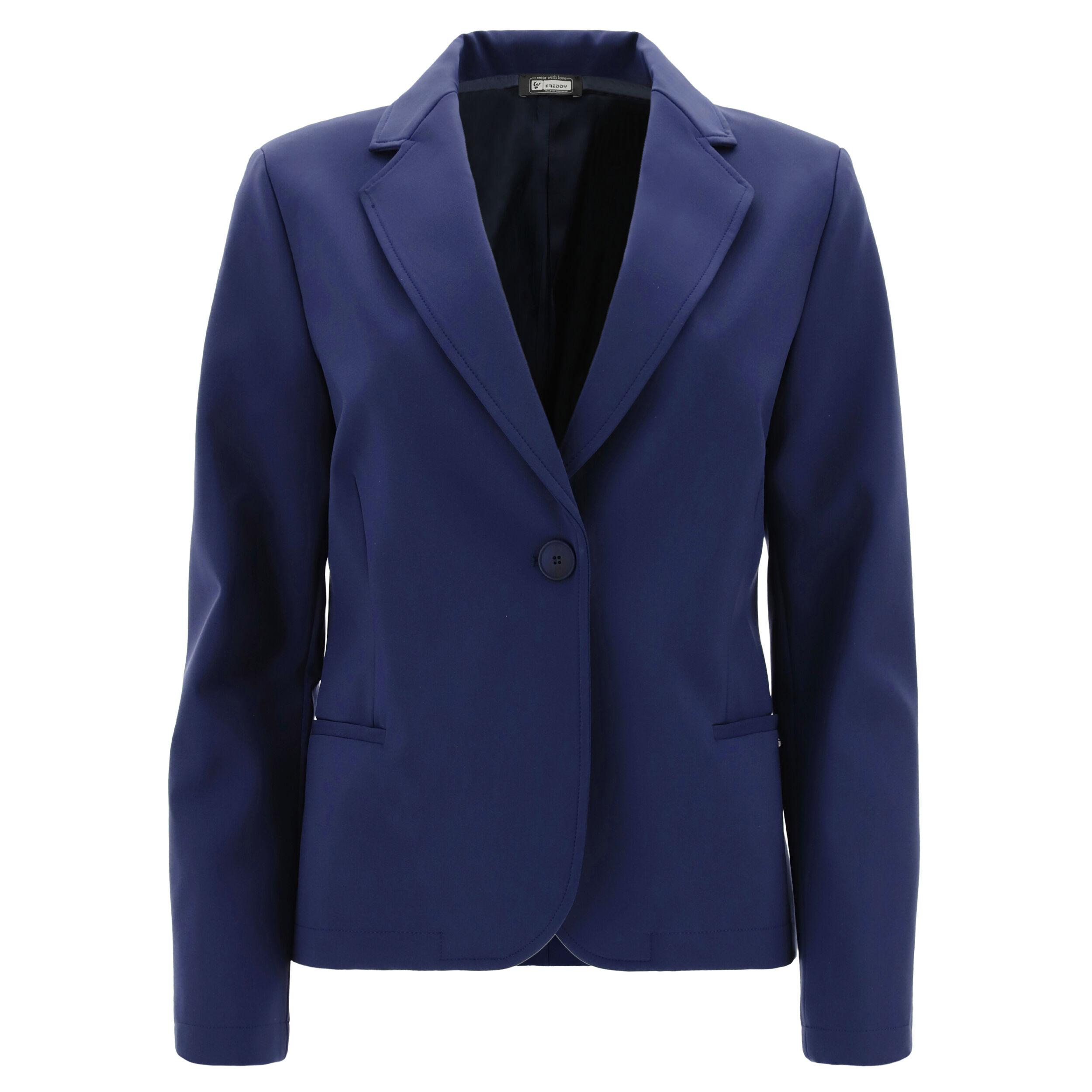 freddy blazer da donna monocolore taglio morbido black iris