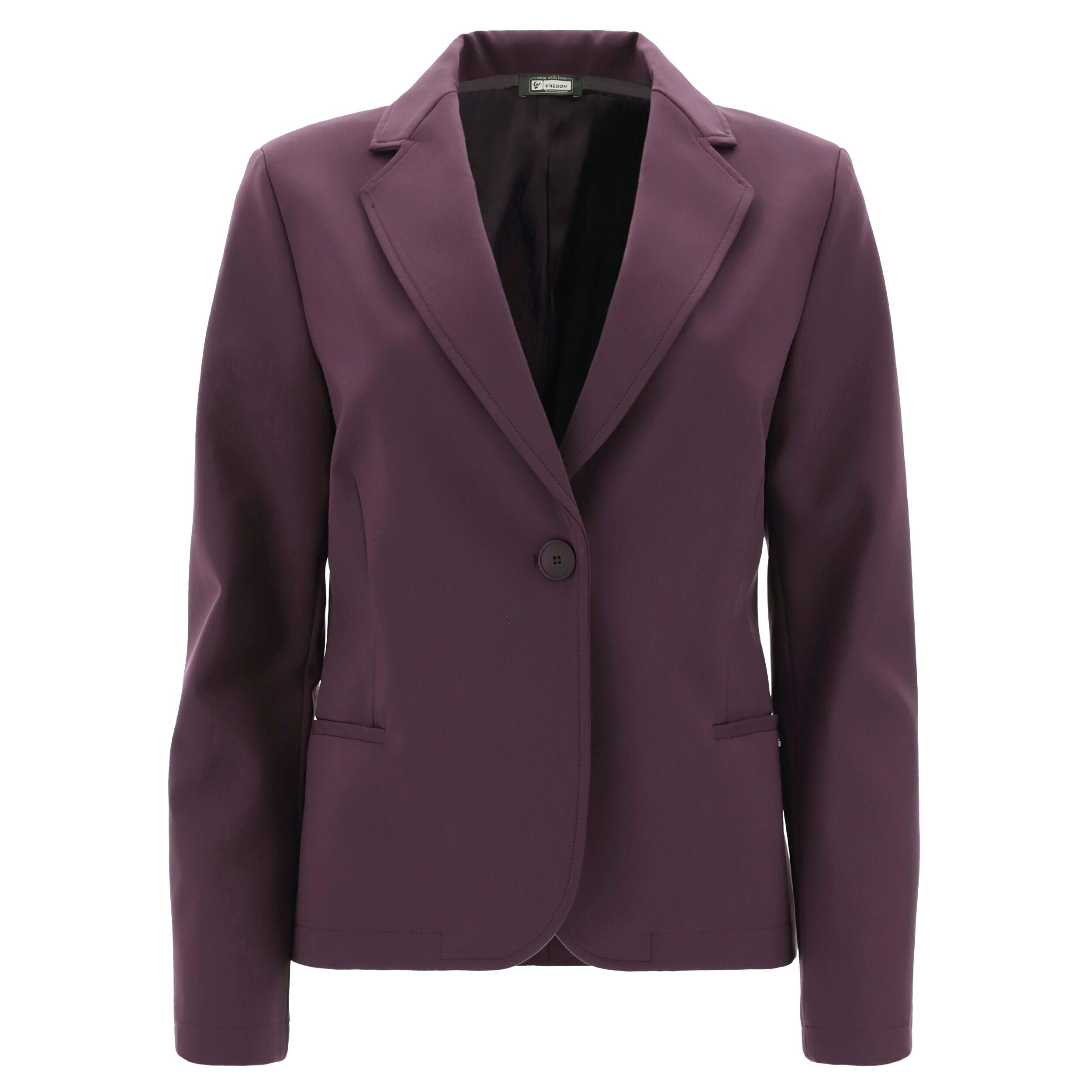 freddy blazer da donna monocolore taglio morbido plum perfect