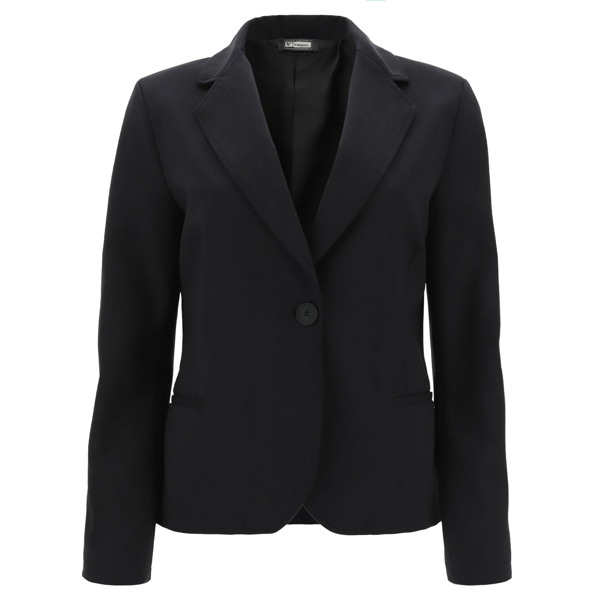 freddy blazer da donna monocolore taglio morbido nero
