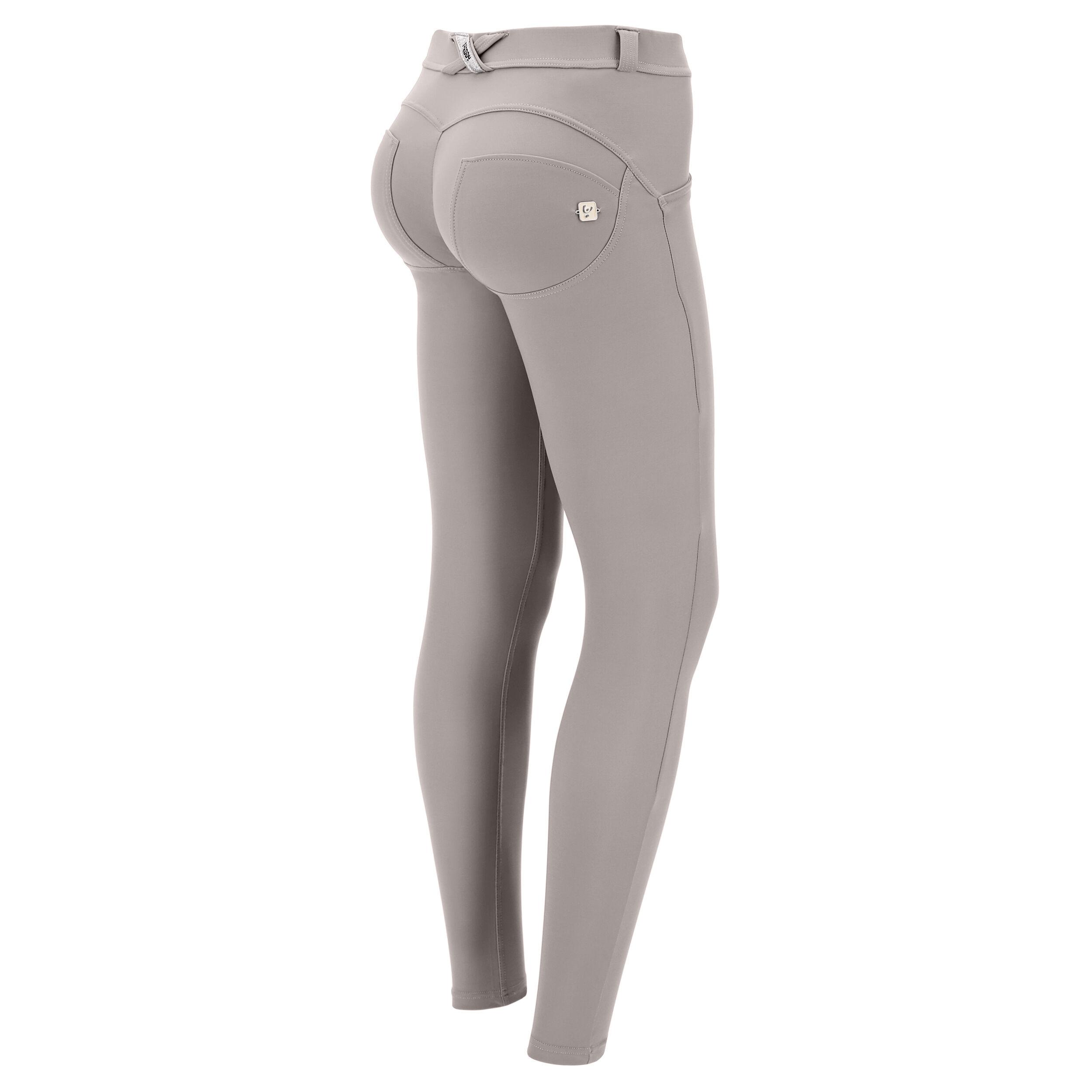 freddy pantaloni donna wr.up® skinny in cupro con vita regular frost gray