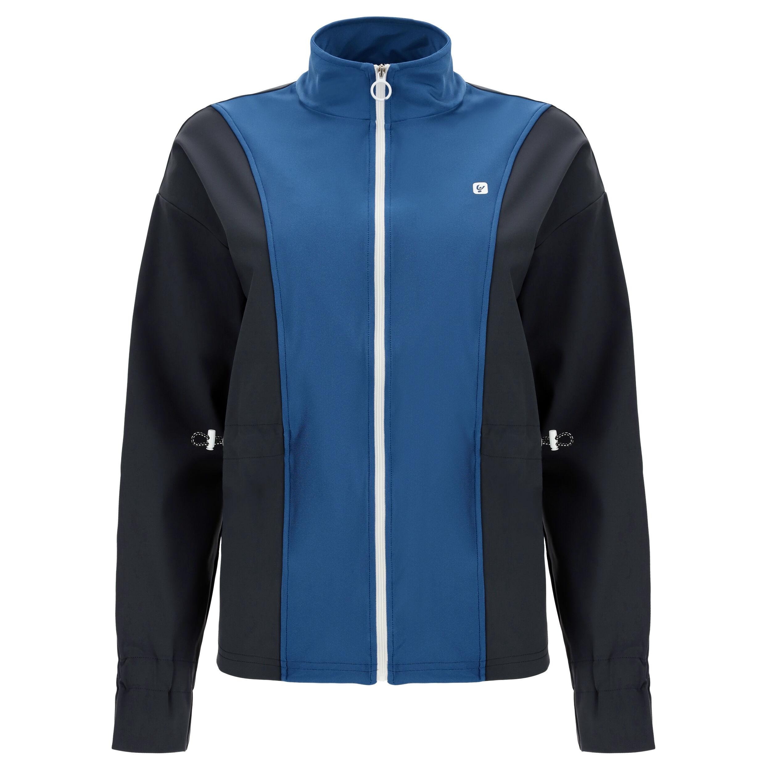 Freddy Felpa zip abbigliamento yoga donna - 100% Made in Italy Blu Inchiostro-Blu Cangiante