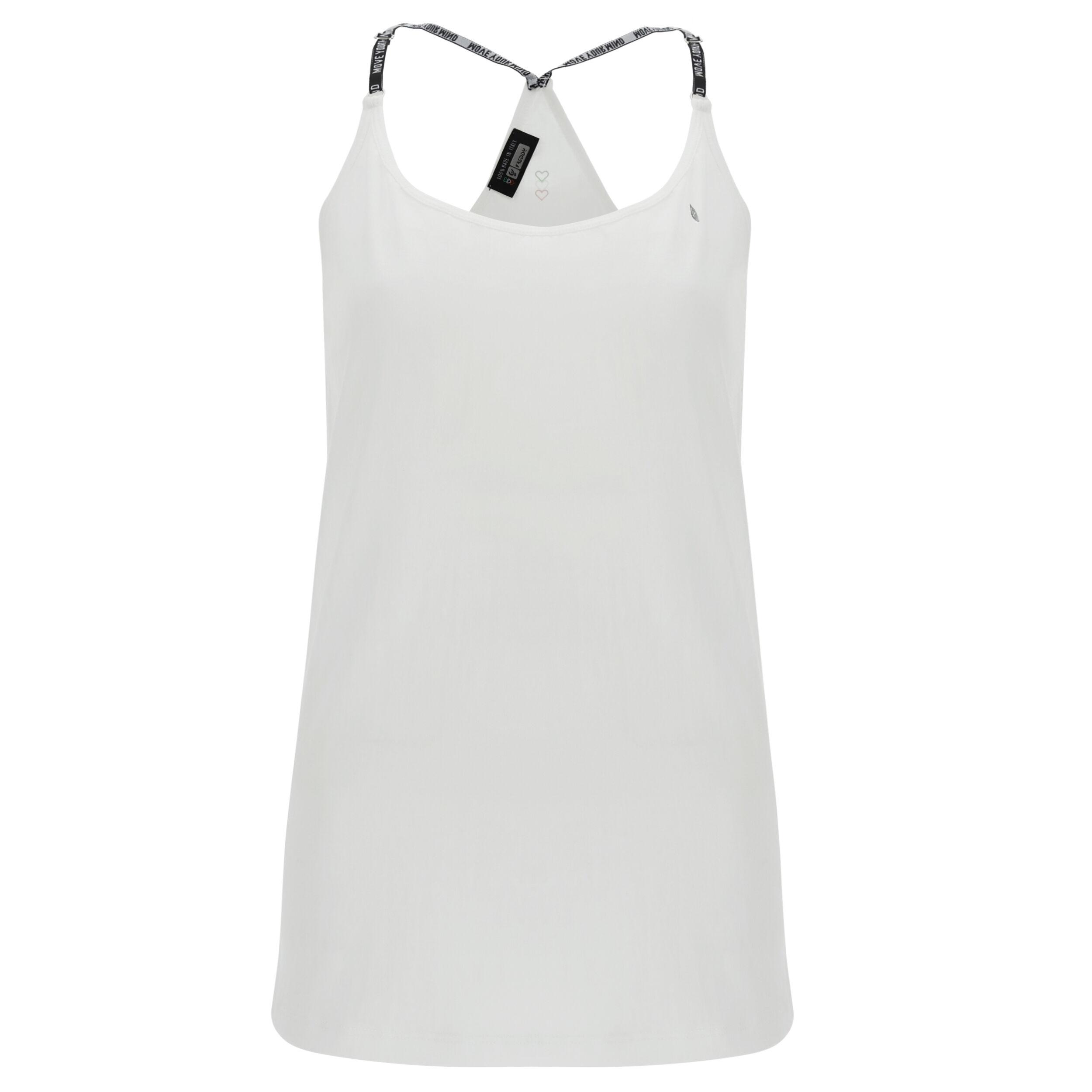 Freddy Canotta crêpe abbigliamento yoga donna - 100% Made in Italy Bianco