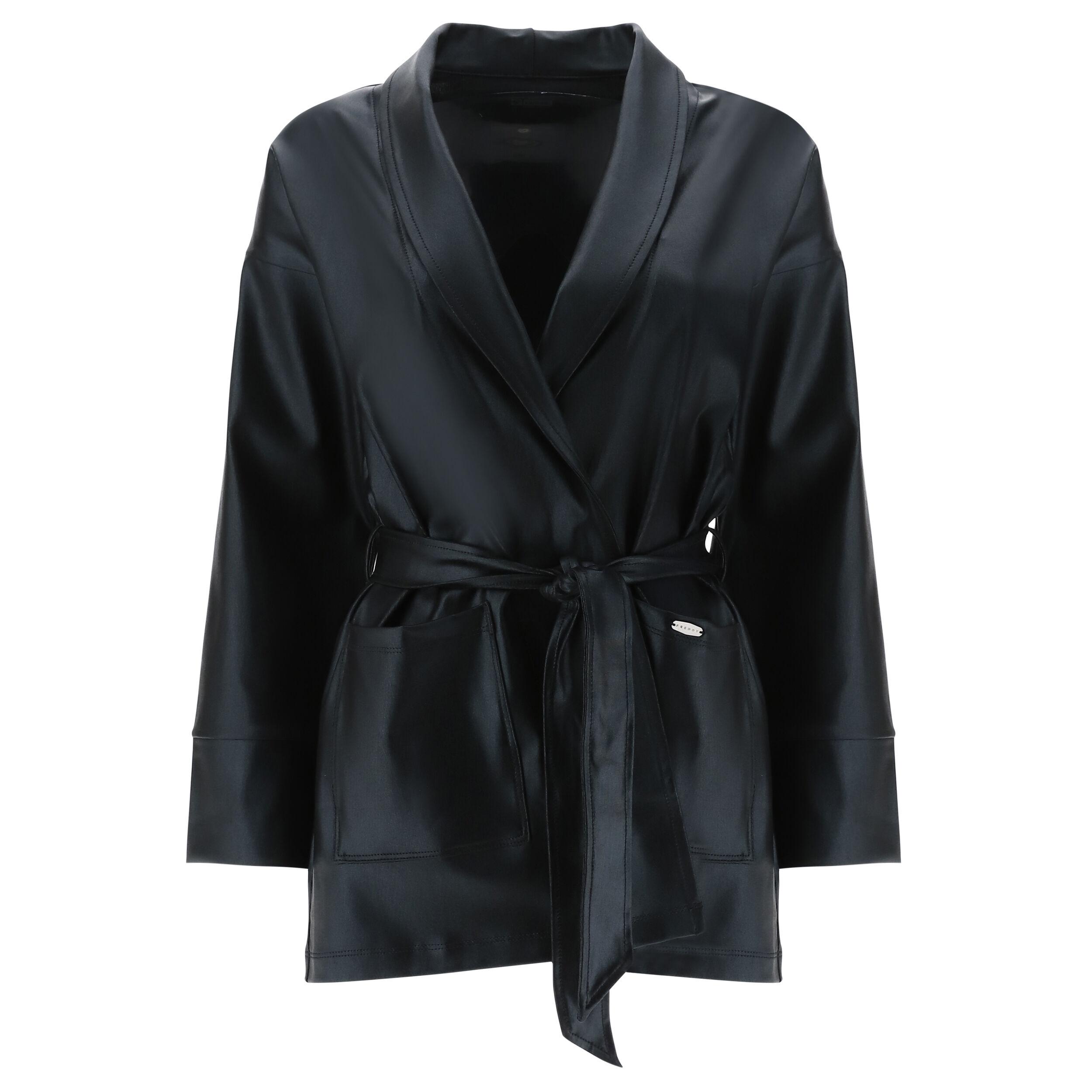Freddy Blazer a vestaglia in tessuto traspirante spalmato lucido Black Coated