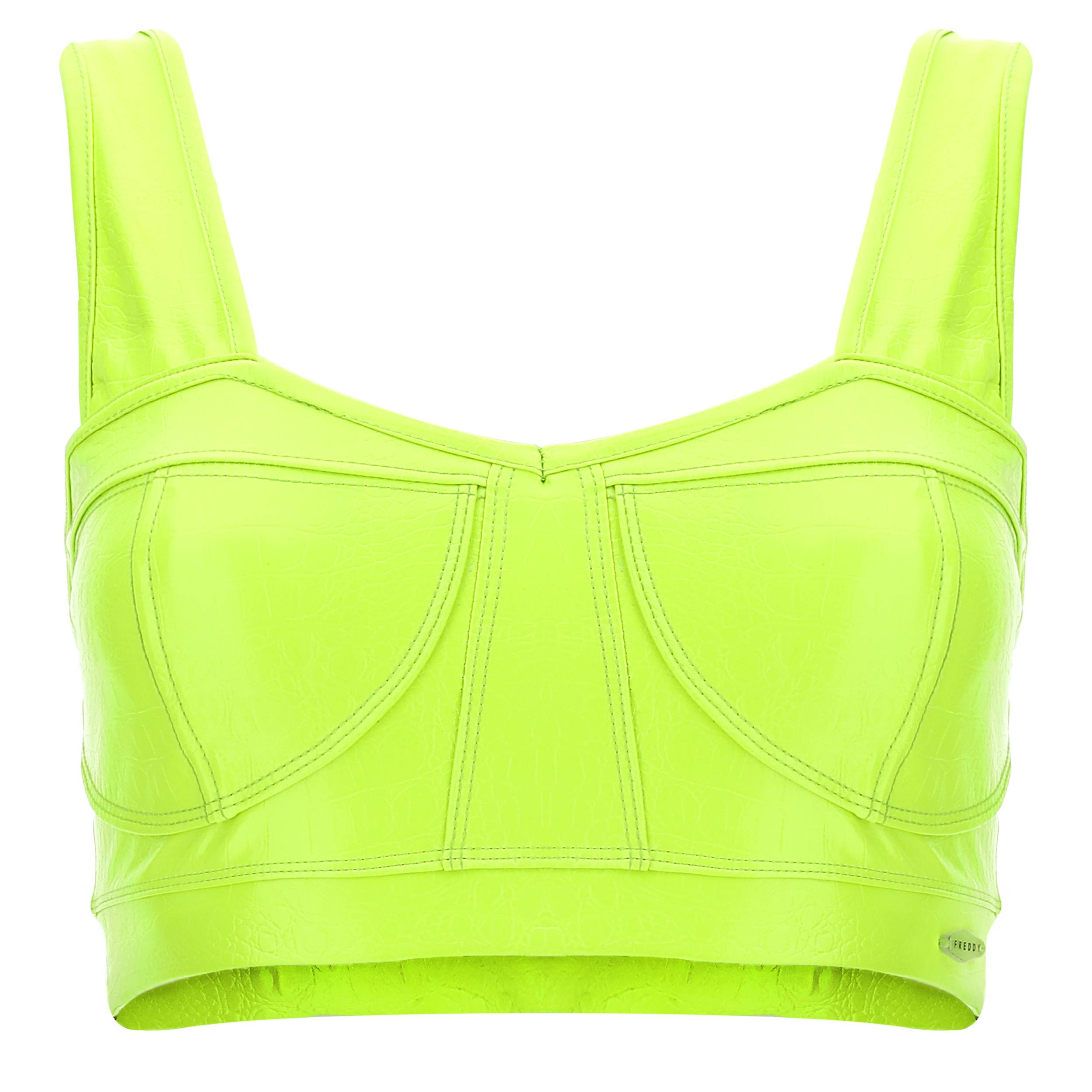 Freddy Corpetto in ecopelle lime effetto cocco Verde Lime
