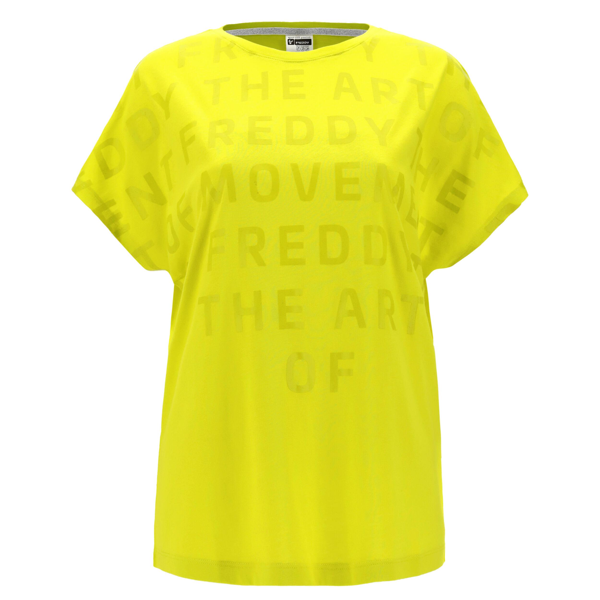 Freddy T-shirt comfort THE ART OF MOVEMENT con maniche kimono Sulphur Spring