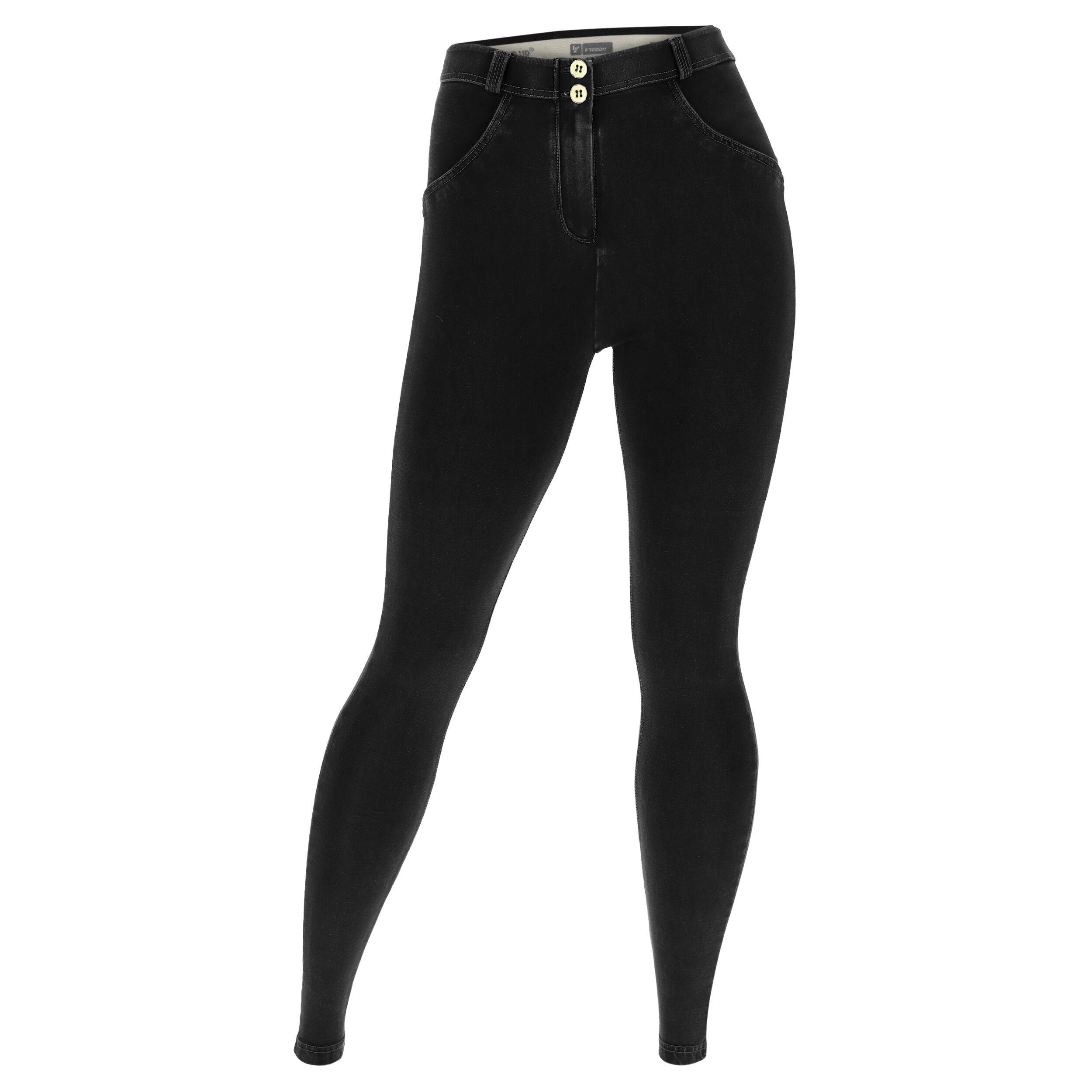 Freddy Jeggins push up WR.UP® vestibilità curvy denim scuro Jeans Nero-Cuciture In Tono