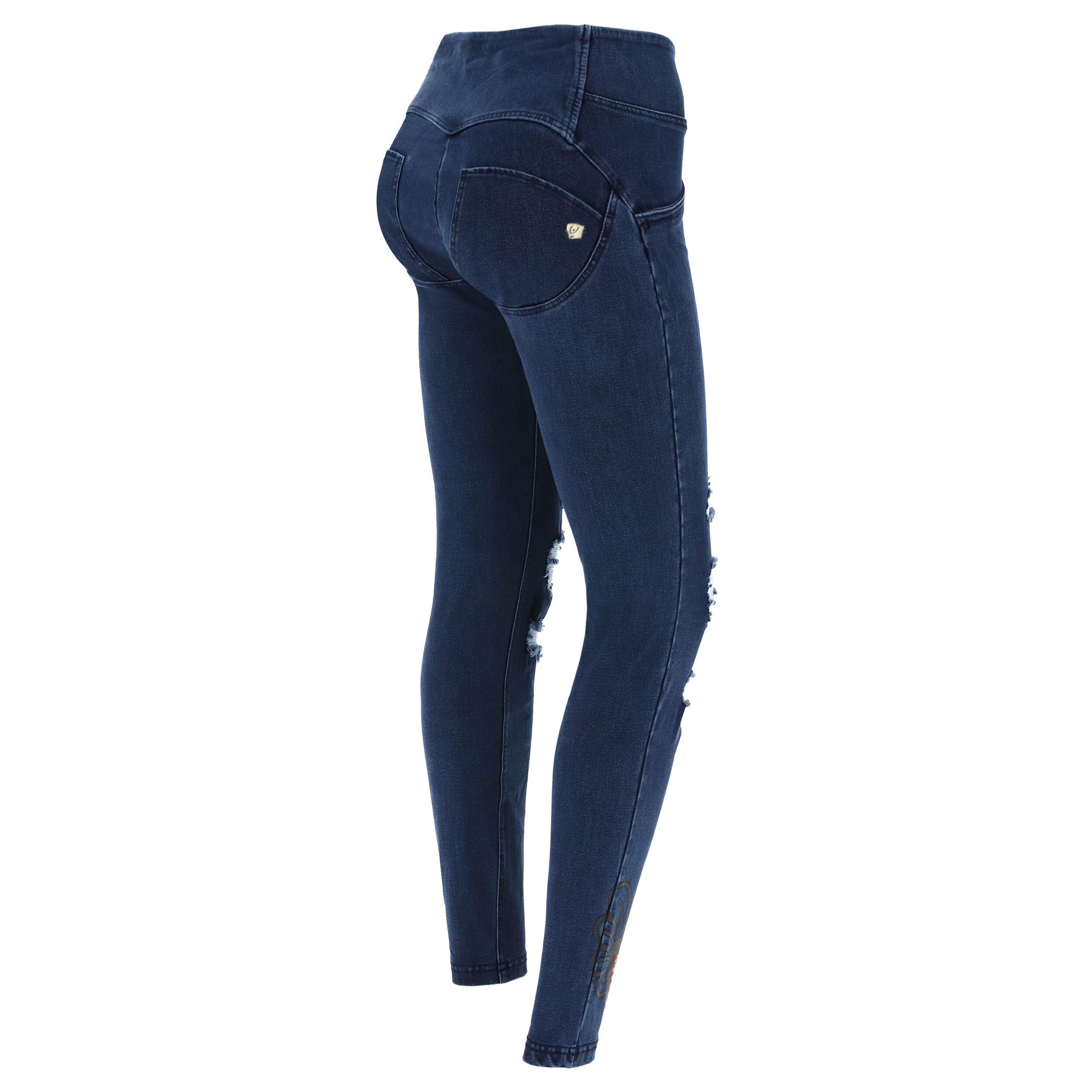 Freddy Jeans WR.UP® strappi e cuore alato – Romero Britto Collection Jeans Scuro-Cuciture In Tono