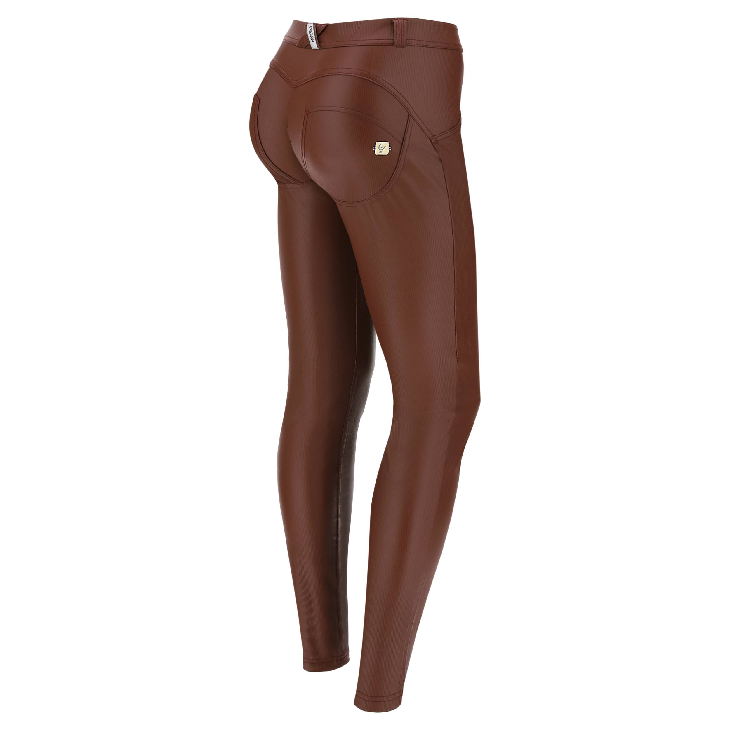 Freddy Pantaloni push up WR.UP® skinny in ecopelle millerighe 70's Brown