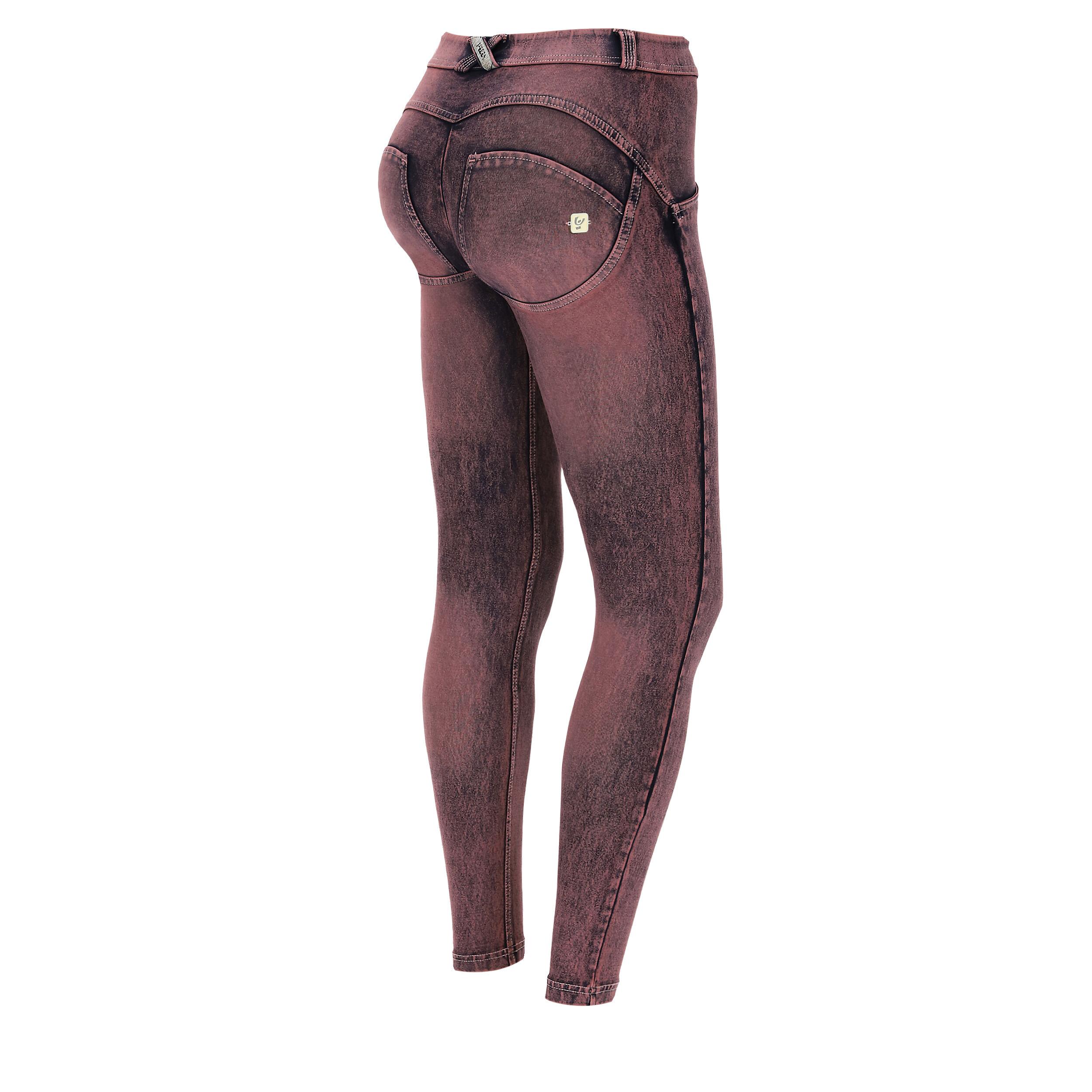 Freddy Jeans push up WR.UP® superskinny in denim stretch colorato Rosa Marmorizzato Denim