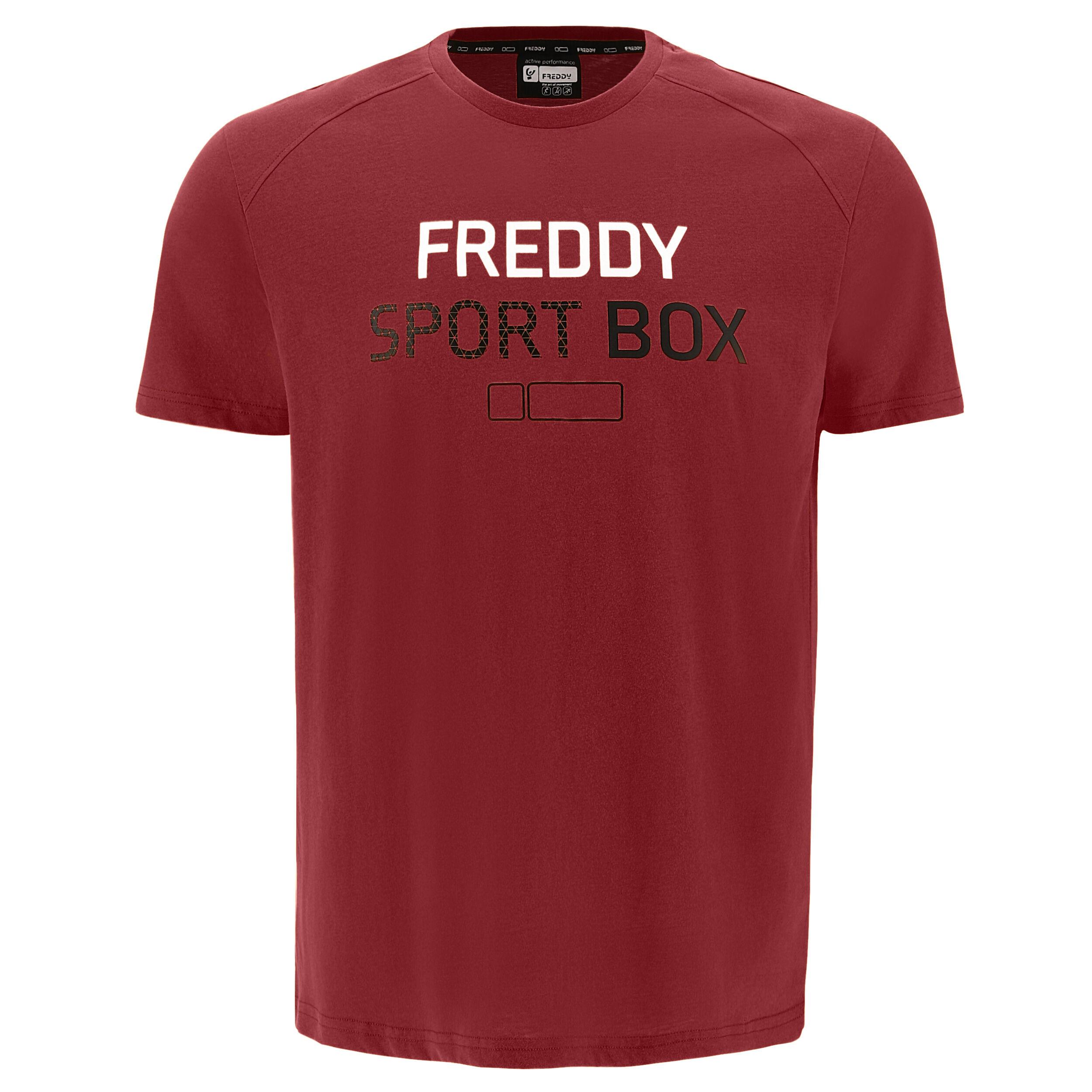 freddy t-shirt con no logo e stampa composita  sport box sun-dried tomato